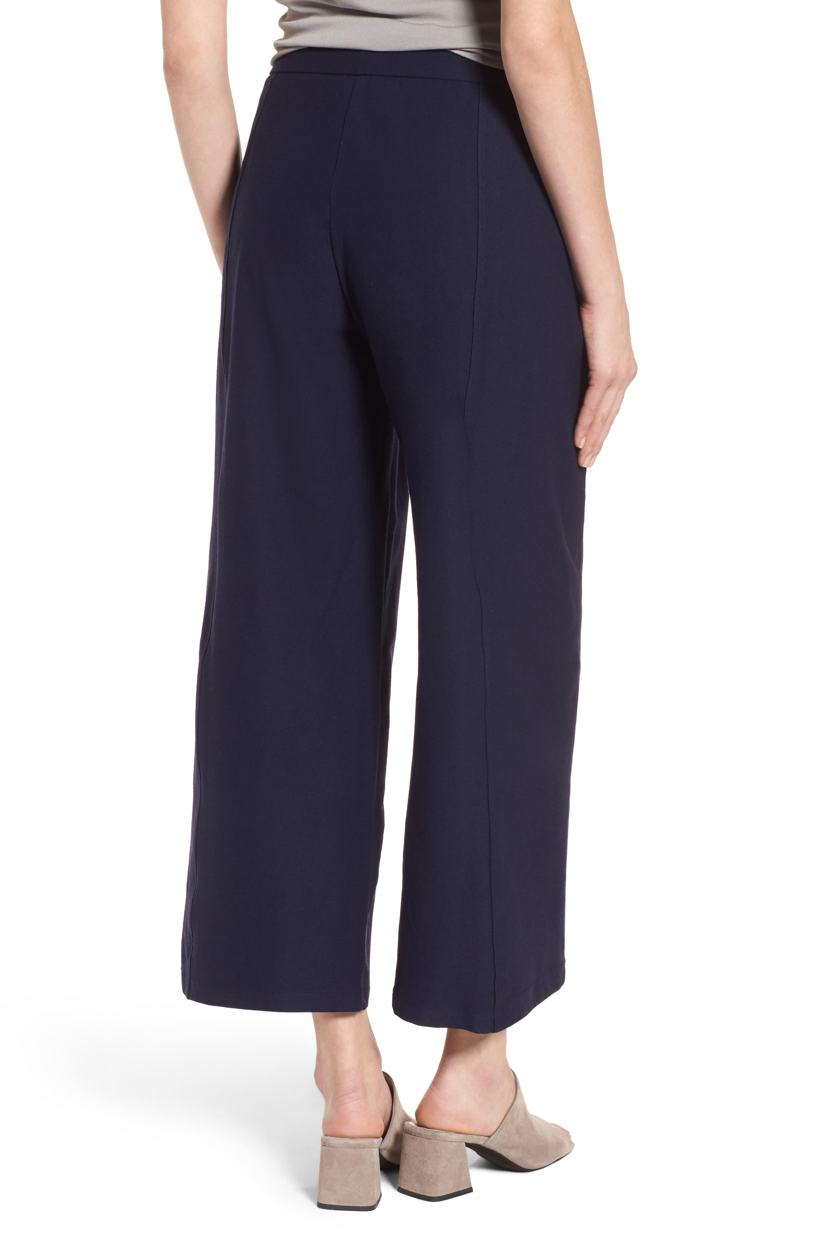 Wide Leg Crop Pants,                             Alternate thumbnail 2, color,                             Midnight