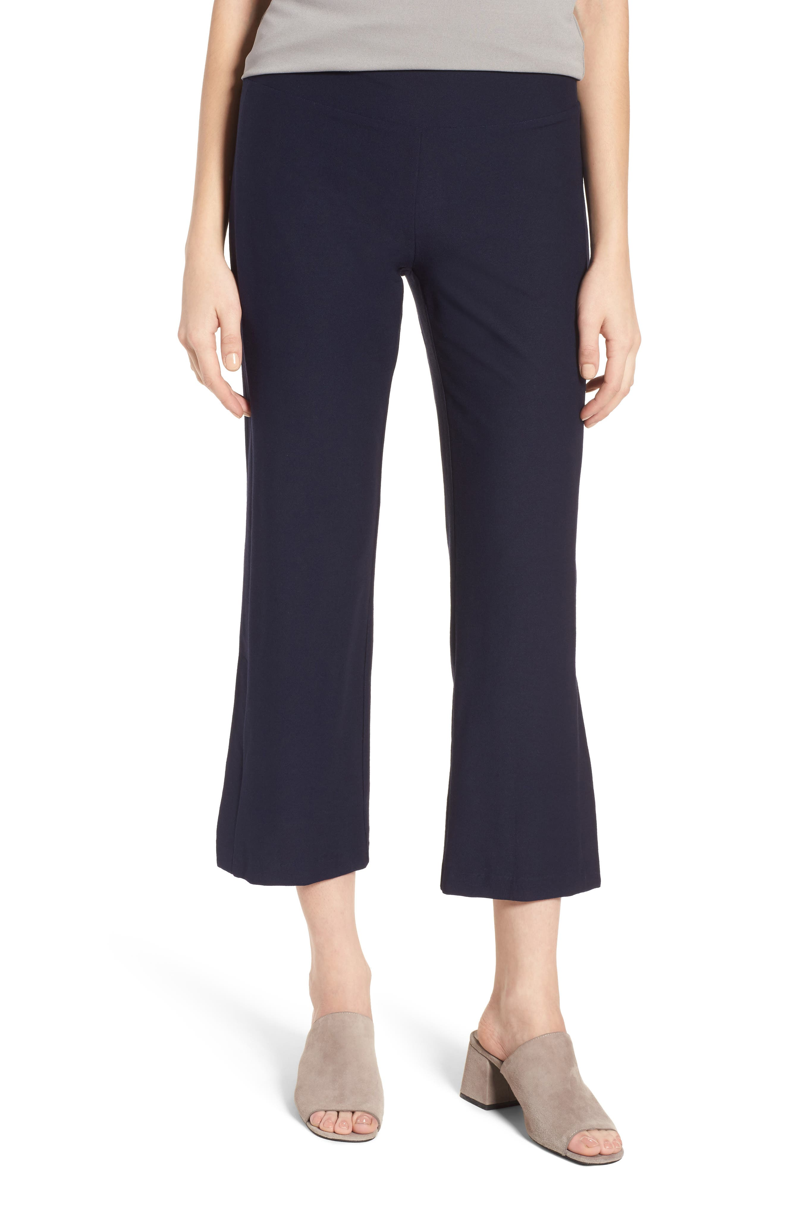 Bootcut Crop Pants,                         Main,                         color, Midnight