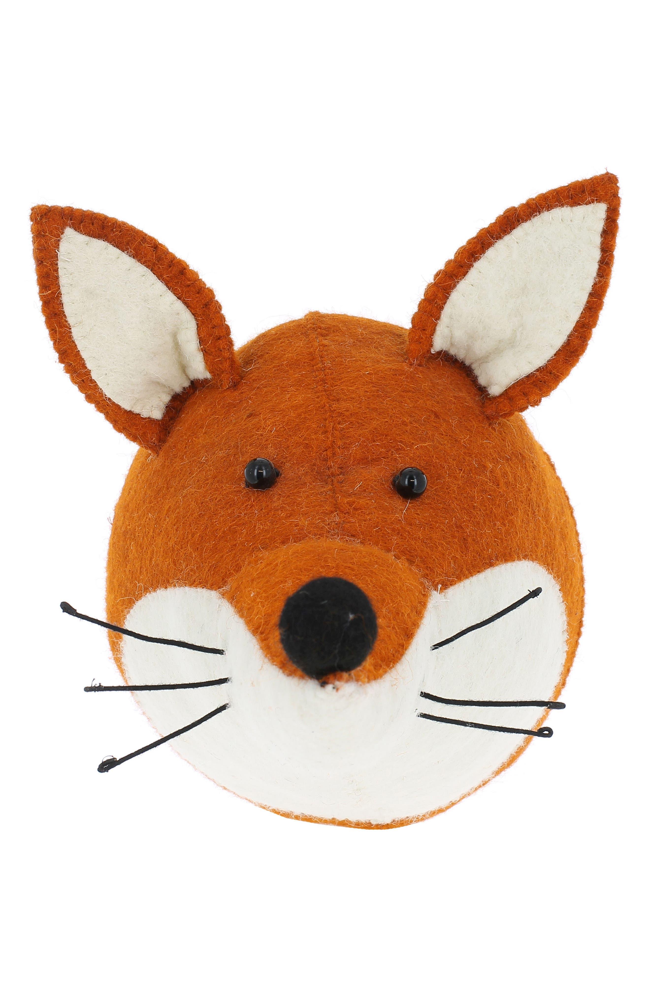 Fox Head Wall Art,                         Main,                         color, Orange