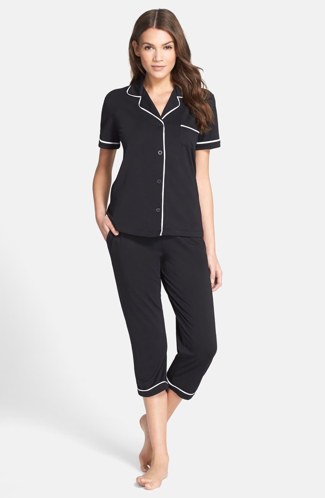 Alternate Image 1 Selected - DKNY Jersey Capri Pajamas