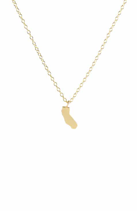 California state necklace nordstrom kris nations solid state charm necklace aloadofball Images