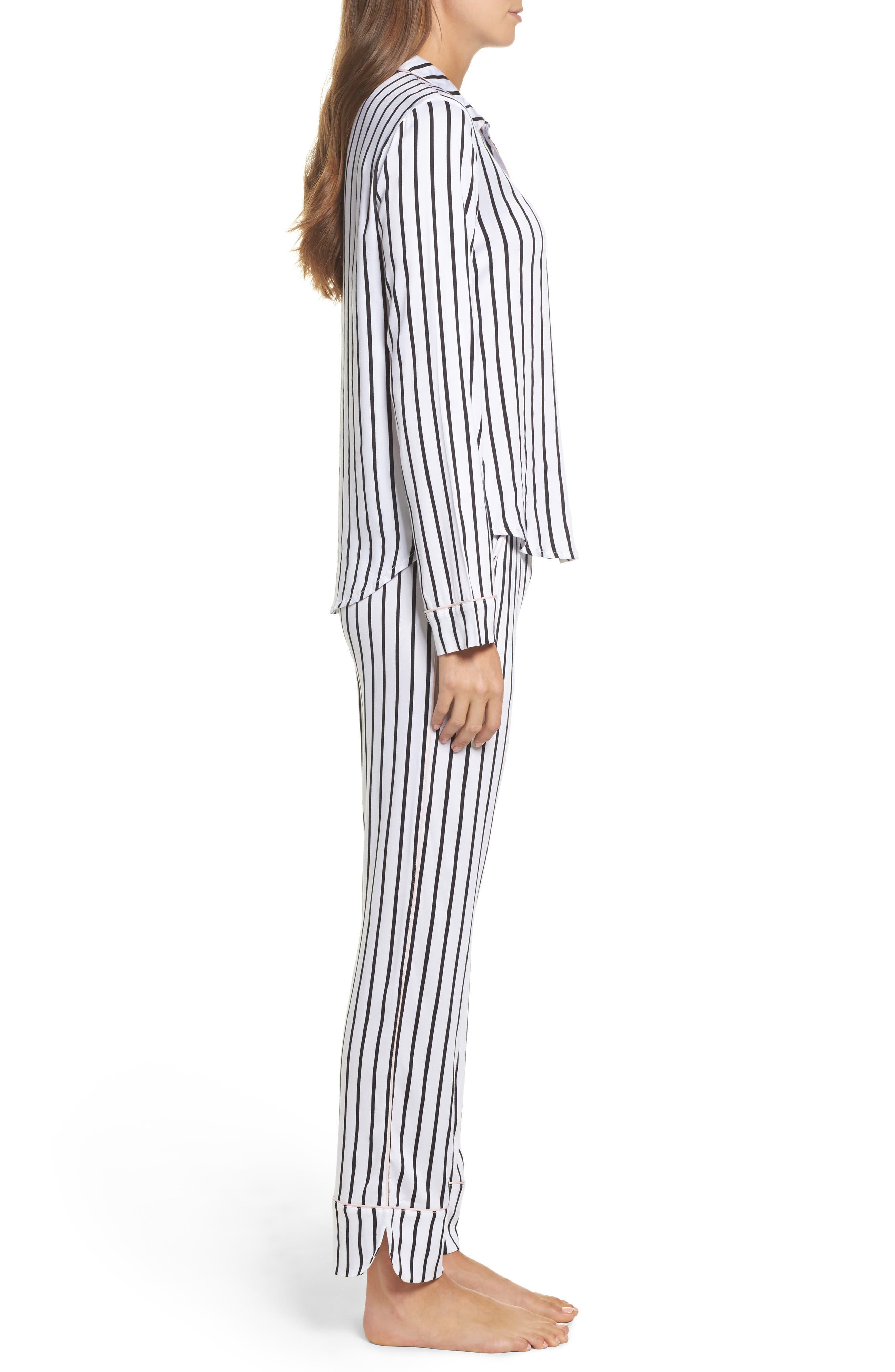 Jersey Pajamas,                             Alternate thumbnail 3, color,                             Ivory