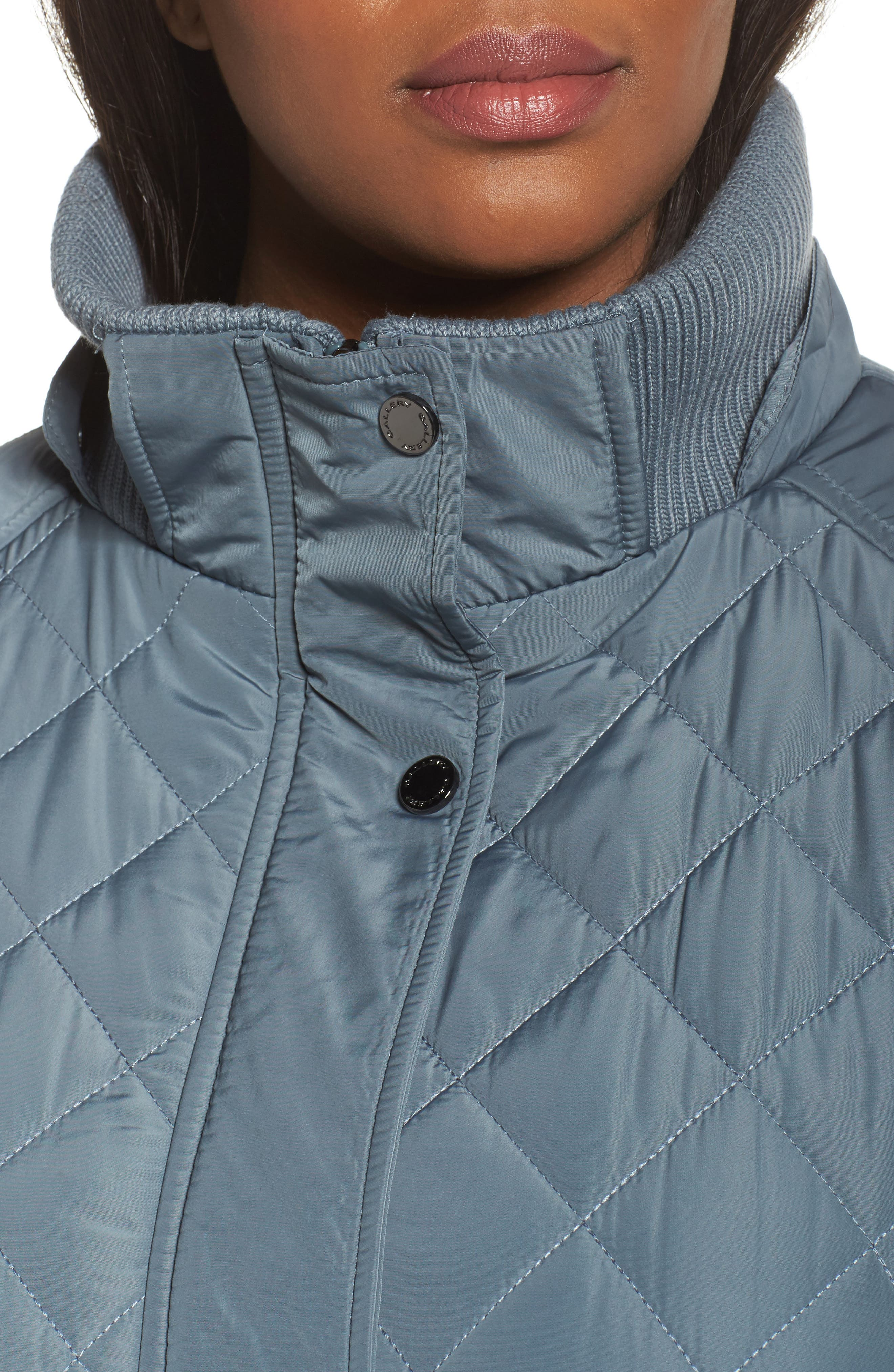 Quilted Hooded Jacket,                             Alternate thumbnail 4, color,                             Patina