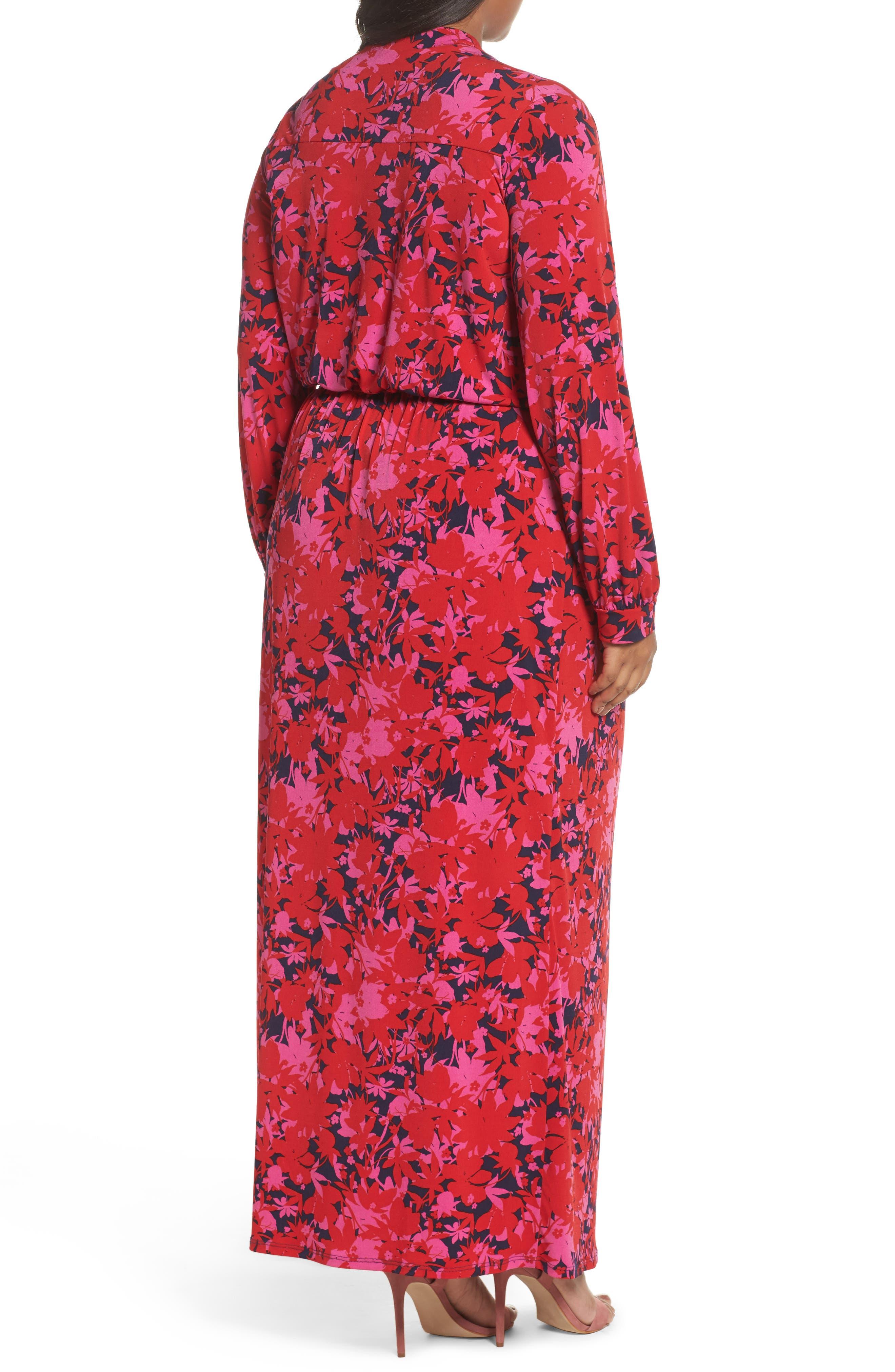Alternate Image 2  - Leota Bridget Floral Faux Wrap Maxi Dress (Plus Size)