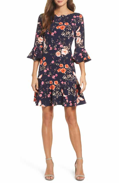 324c7adf4d Eliza J Bell Sleeve Flounce Dress (Regular   Petite)