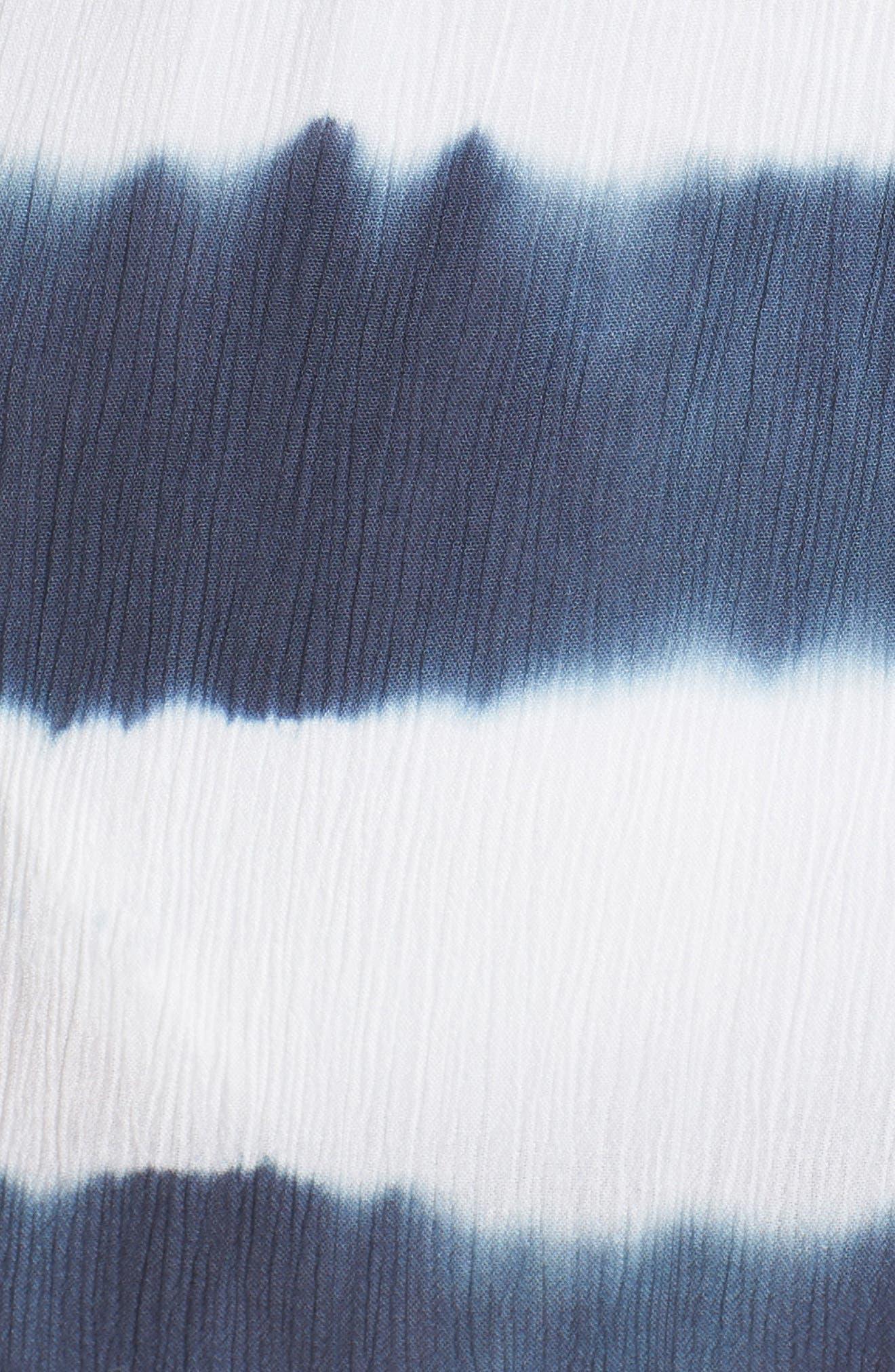 Cold Shoulder Cover-Up Maxi Dress,                             Alternate thumbnail 5, color,                             Td Indigo/ White