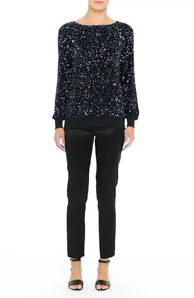 Alternate Image 8  - Lafayette 148 New York Nessa Sequin Blouse