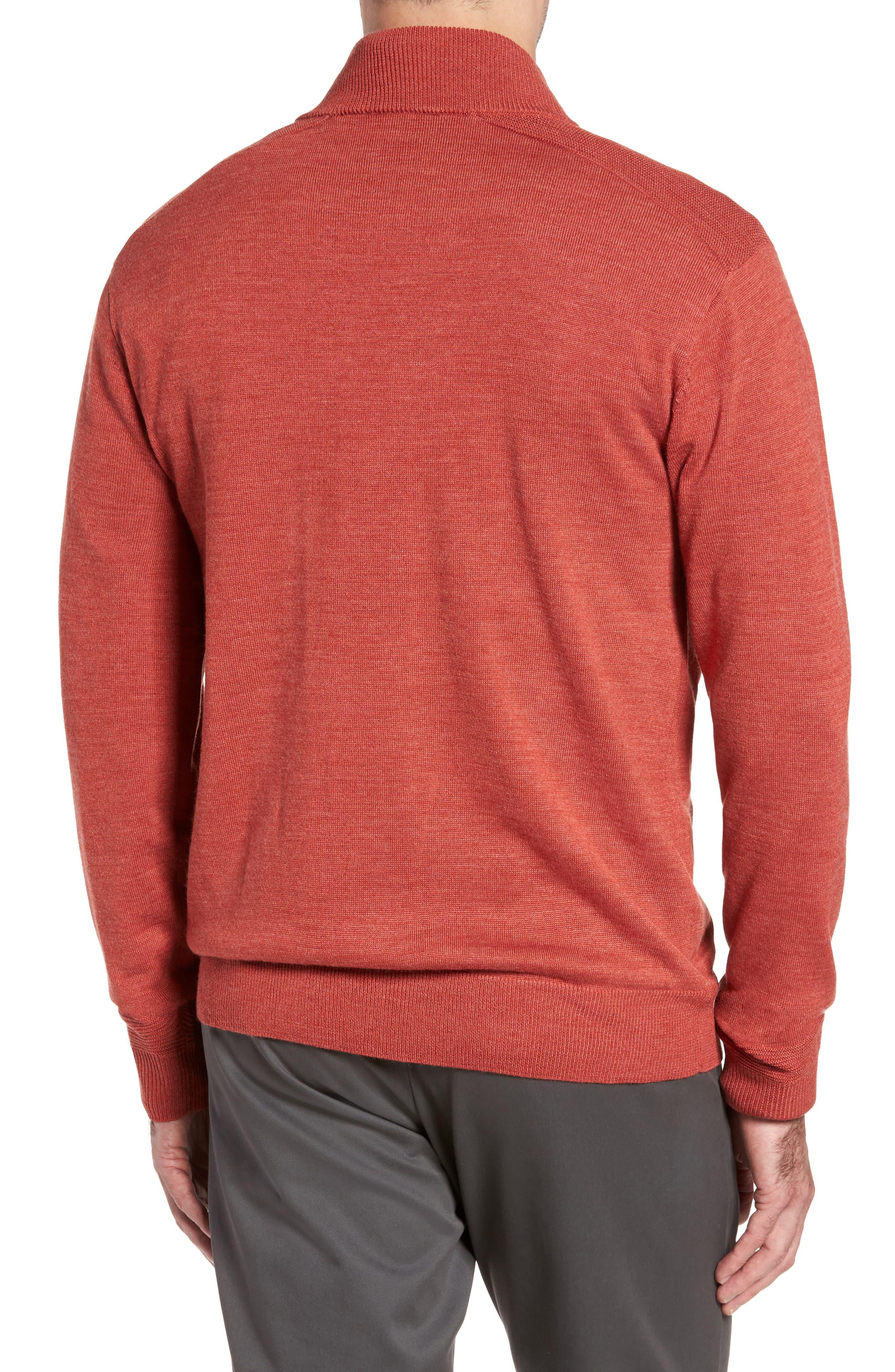 Alternate Image 2  - Cutter & Buck Douglas Quarter Zip Wool Blend Sweater