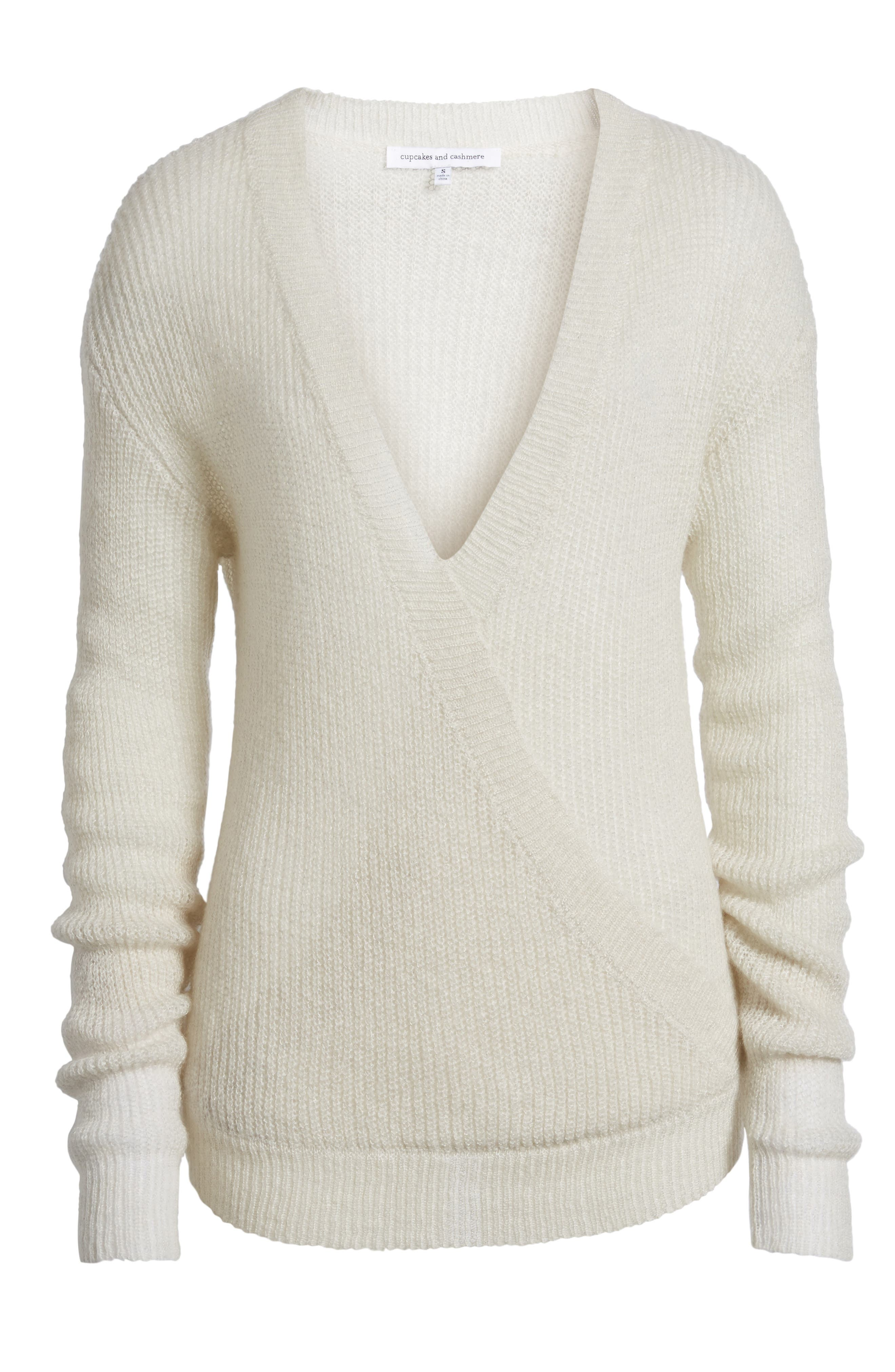 Alternate Image 6  - cupcakes and cashmere Sternberg V-Neck Sweater