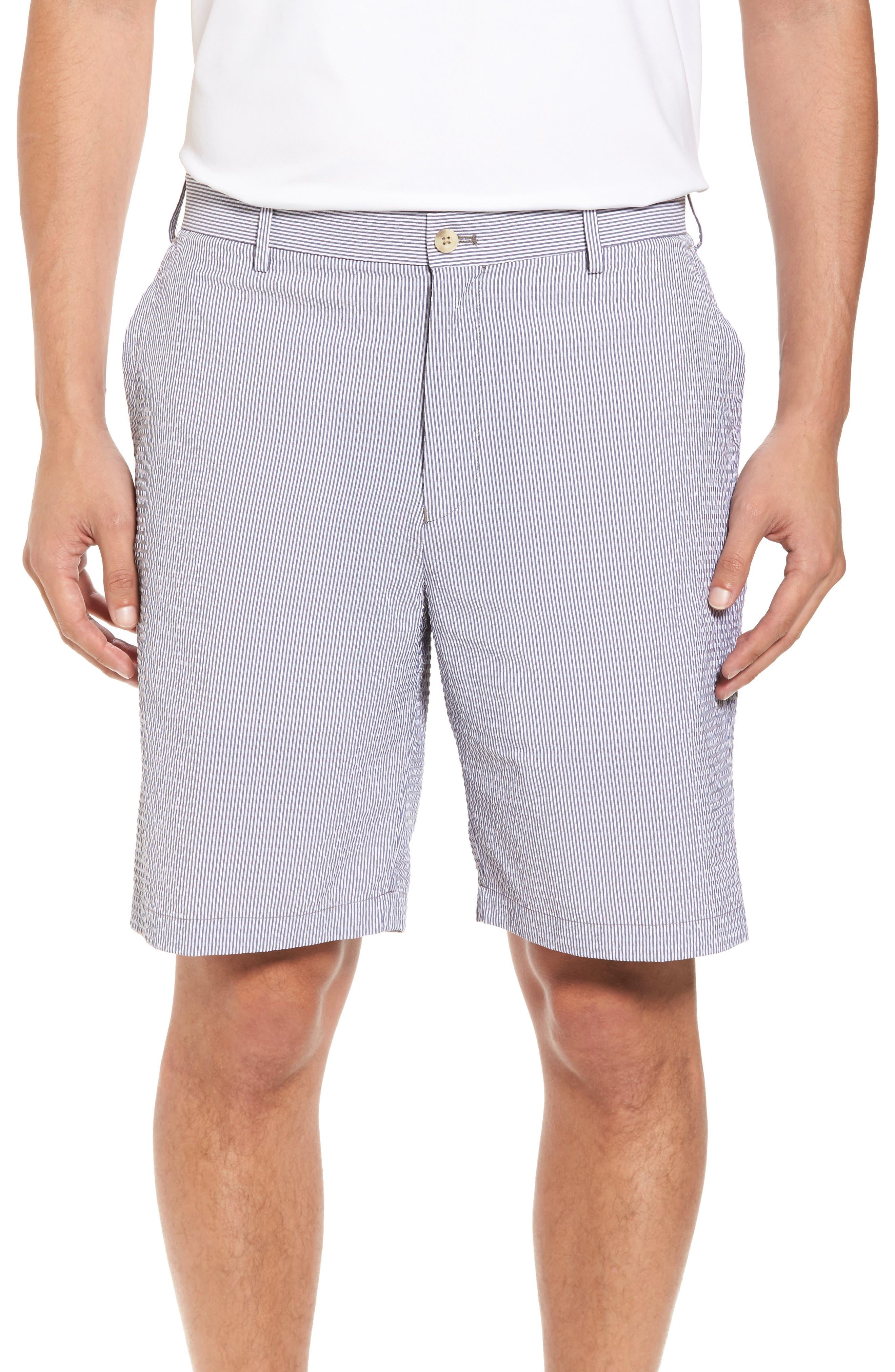 Peter Millar Apex Pinstripe Seersucker Shorts