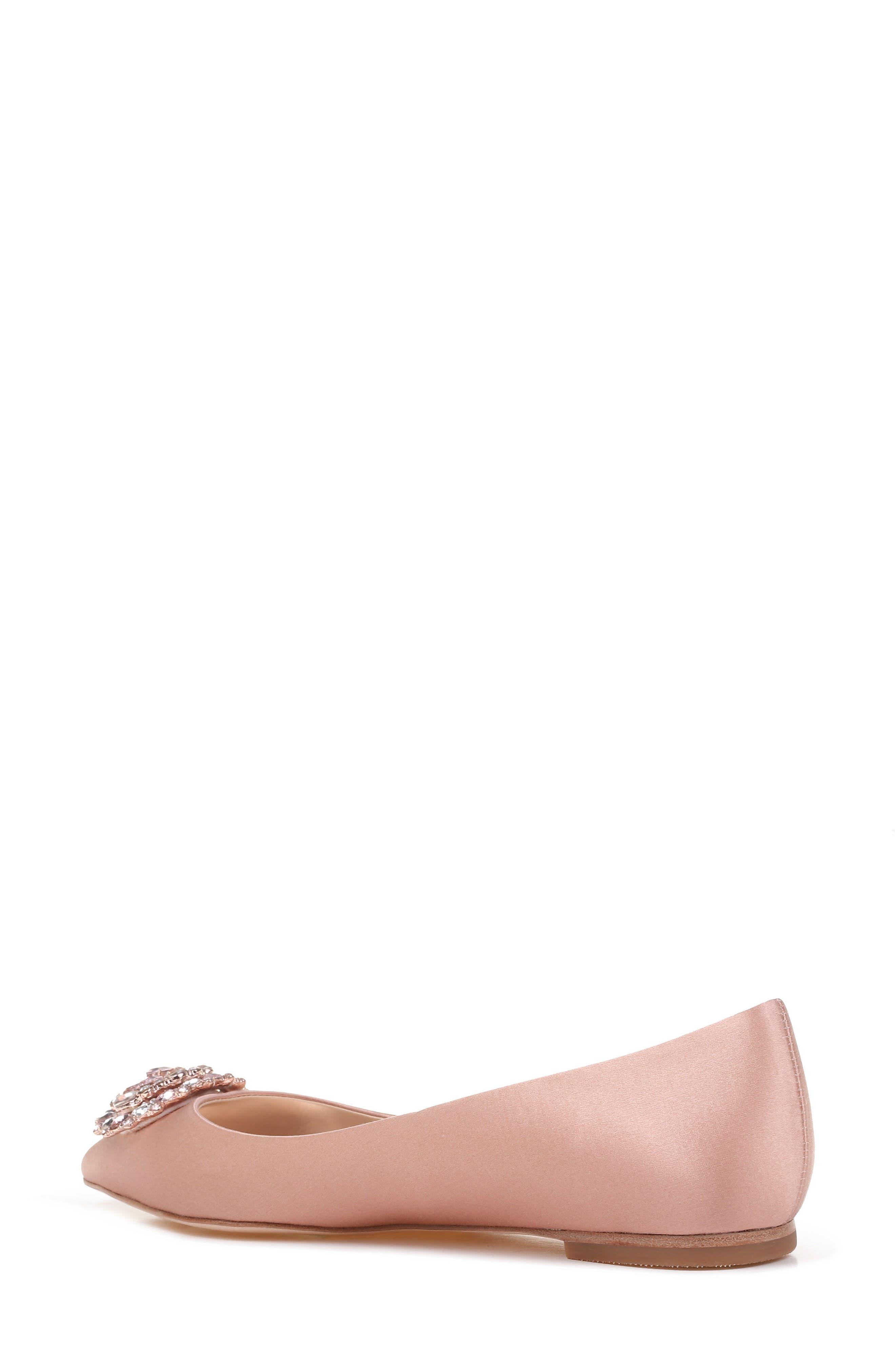 Alternate Image 2  - Badgley Mischka 'Davis' Crystal Embellished Pointy Toe Flat (Women)