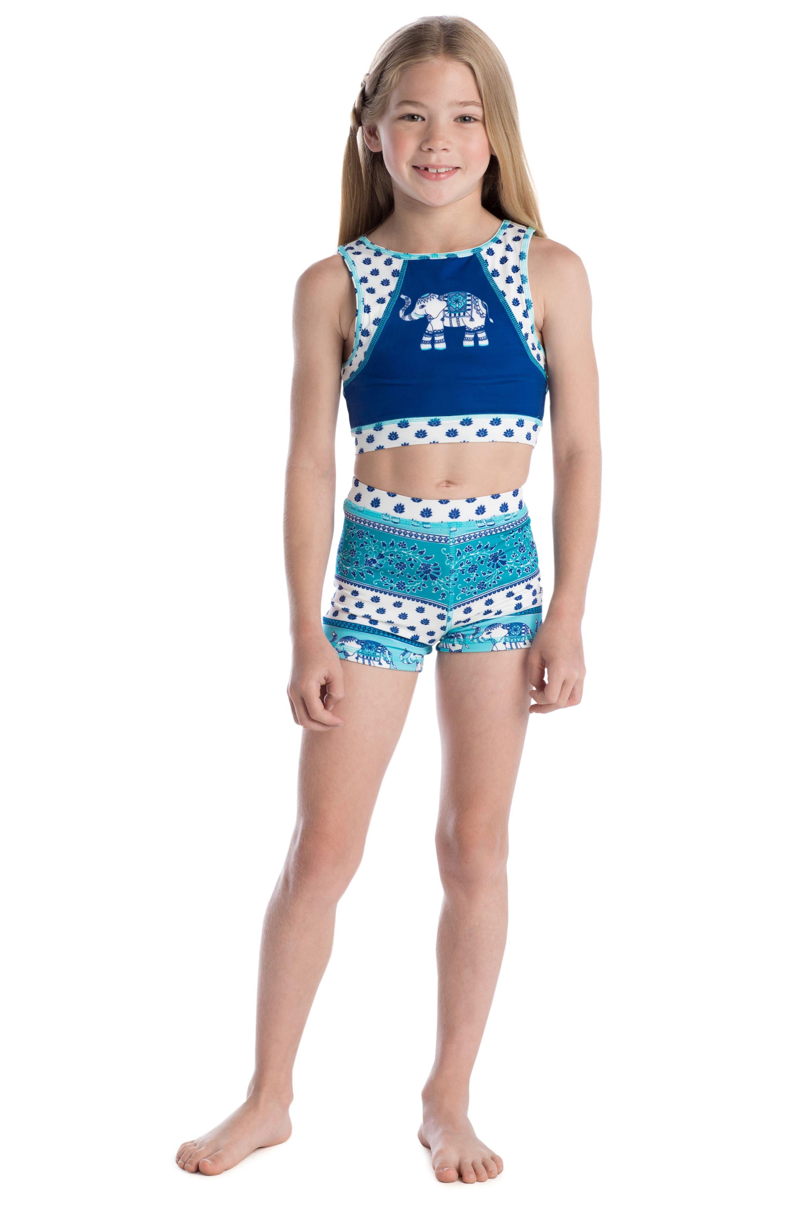 Alternate Image 3  - Masasla Baby Two-Piece Racerback Swimsuit (Toddler Girls)