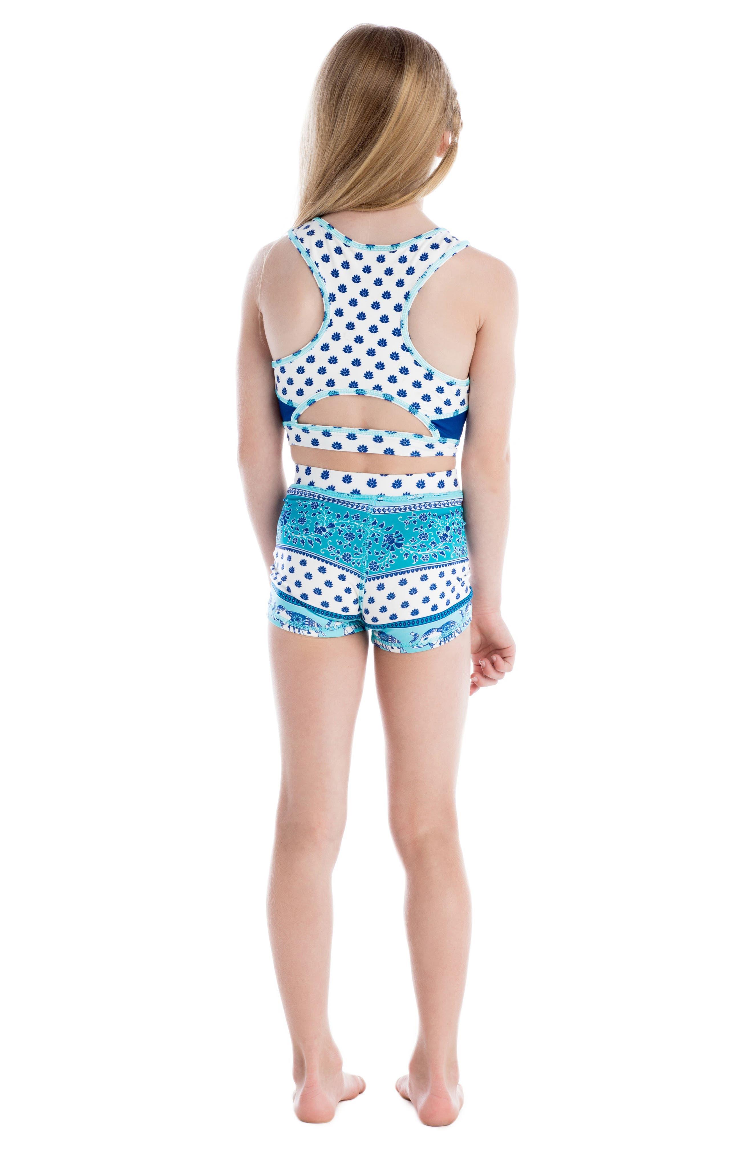 Alternate Image 4  - Masasla Baby Two-Piece Racerback Swimsuit (Toddler Girls)