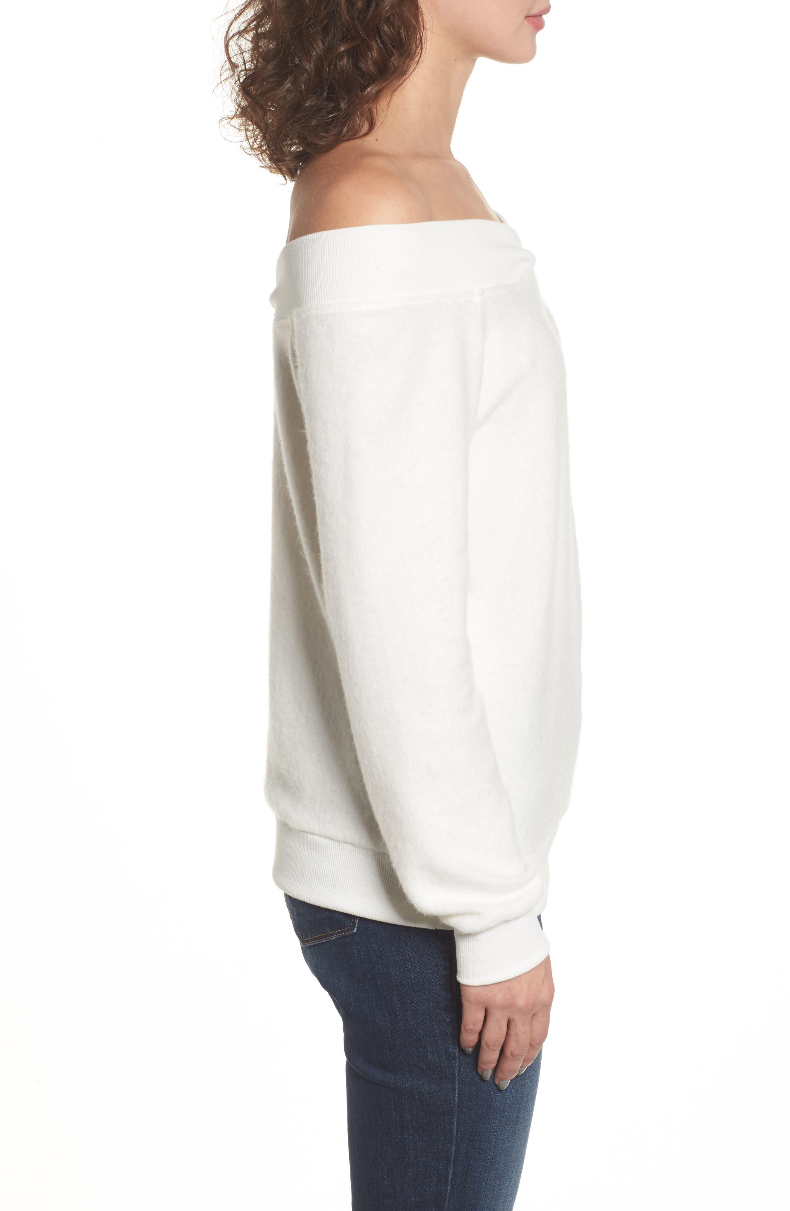 Alternate Image 3  - Socialite Off the Shoulder Fleece Top