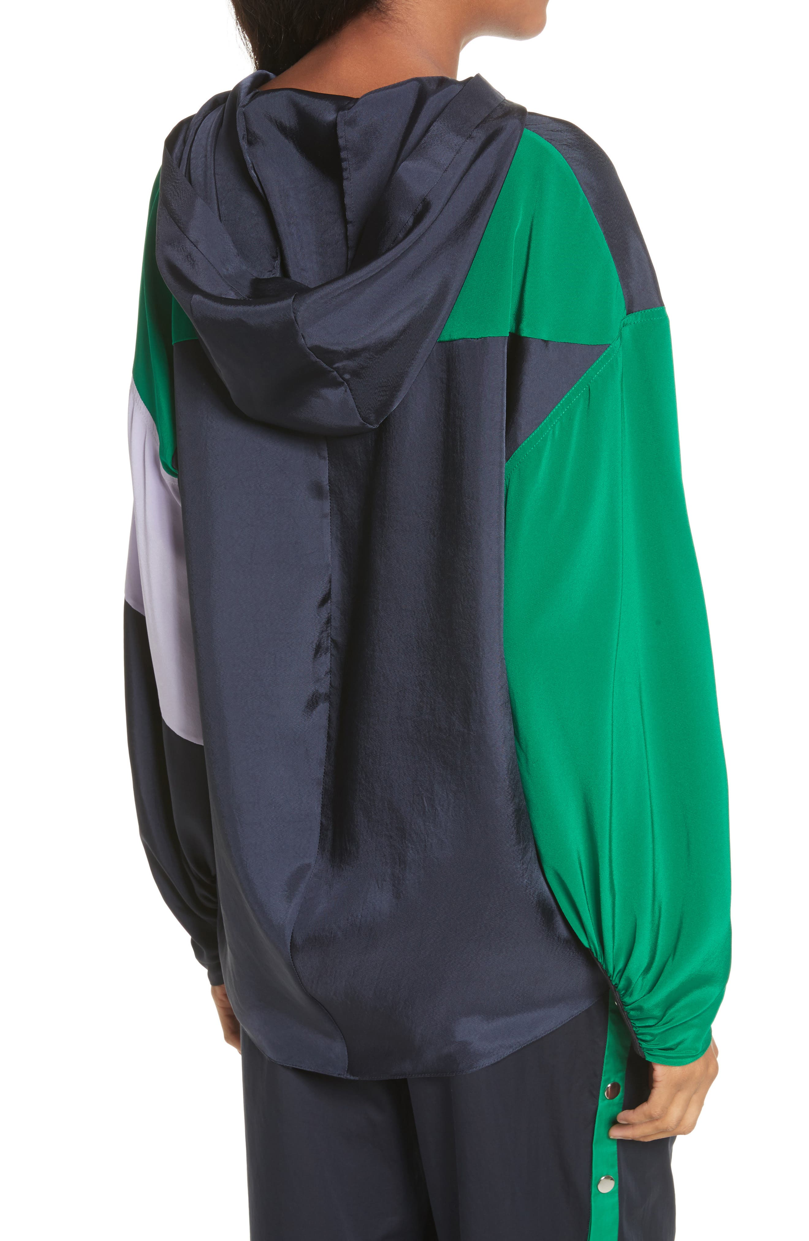 Hooded Jacket,                             Alternate thumbnail 2, color,                             Navy Multi