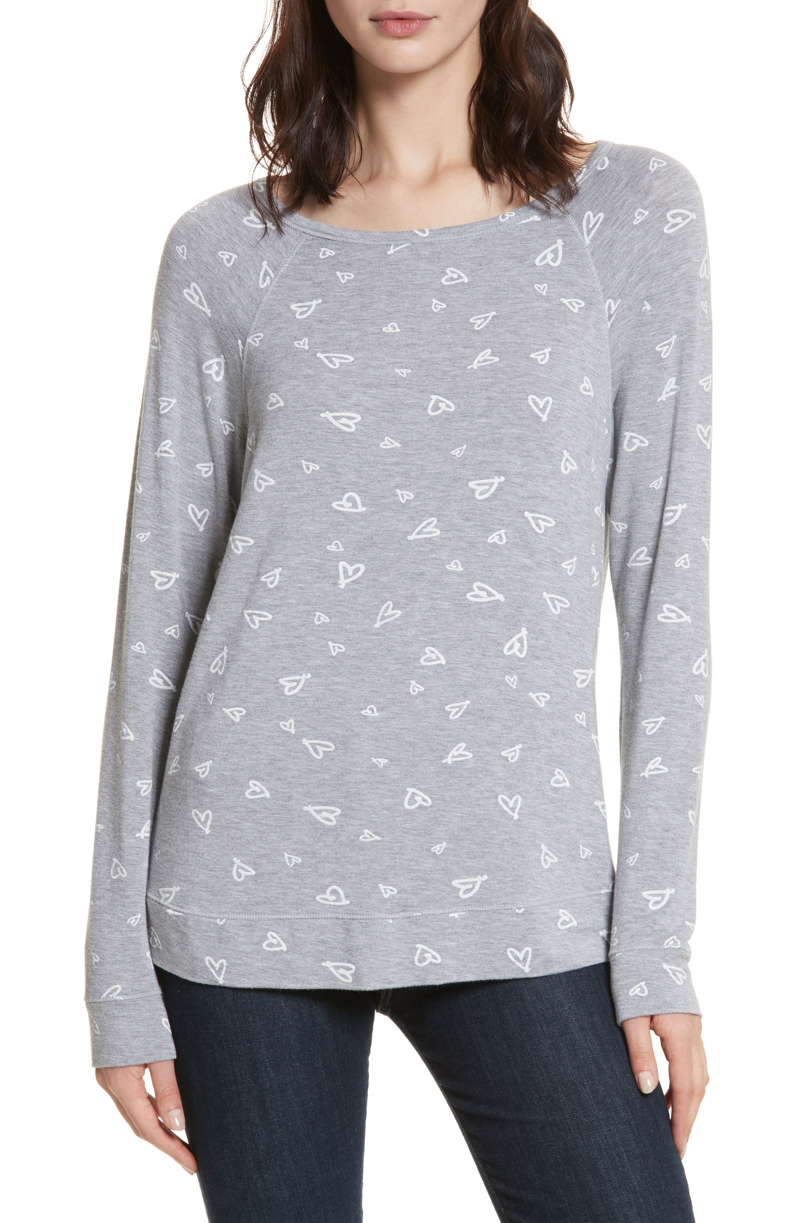 Alternate Image 1 Selected - Joie Annora B Print Cotton & Modal Blend Sweatshirt