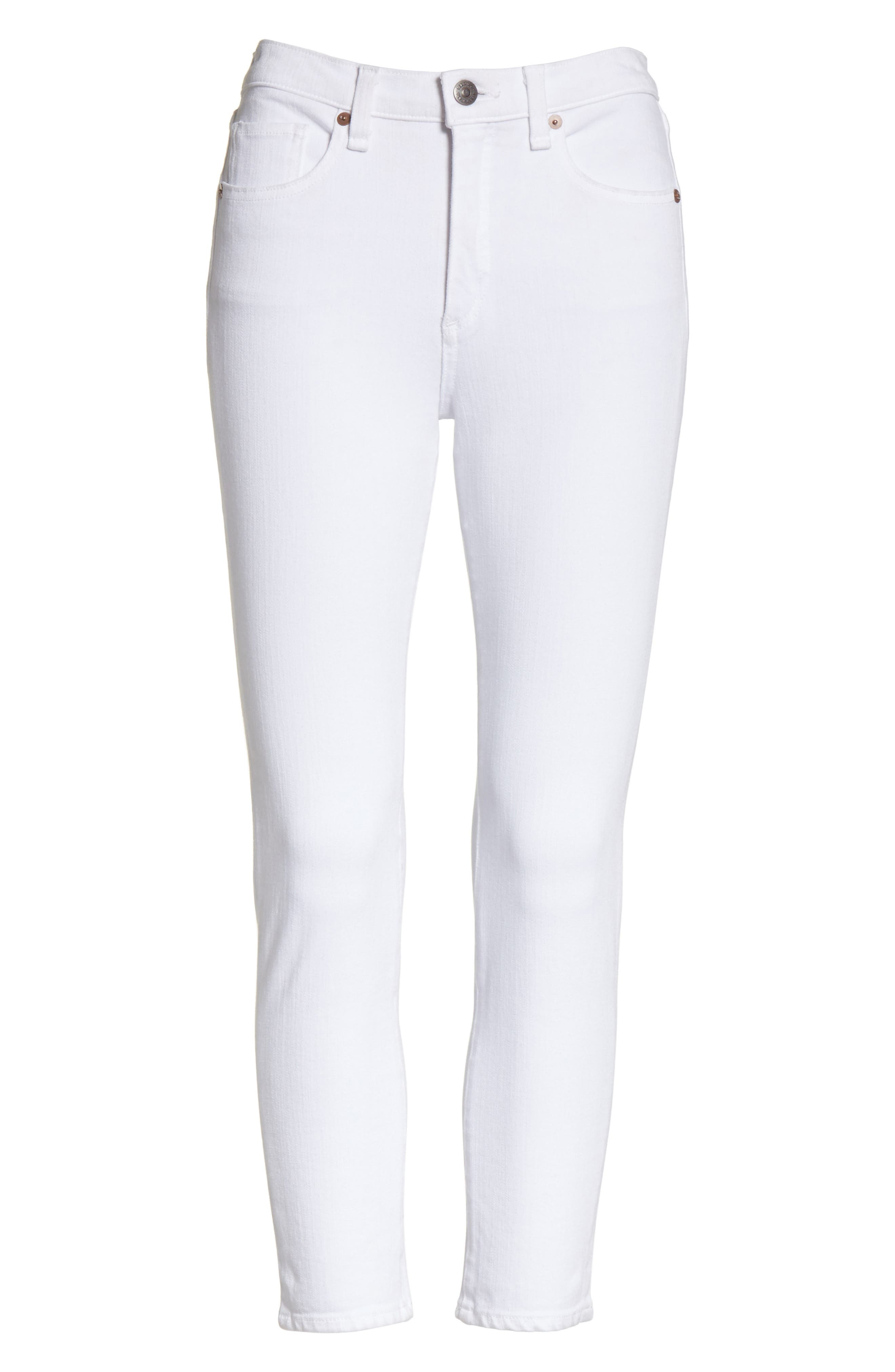 Kate Capri Jeans,                             Alternate thumbnail 6, color,                             White