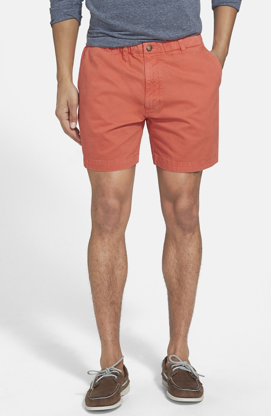 'Snappers' Vintage Wash Shorts,                         Main,                         color, Coral