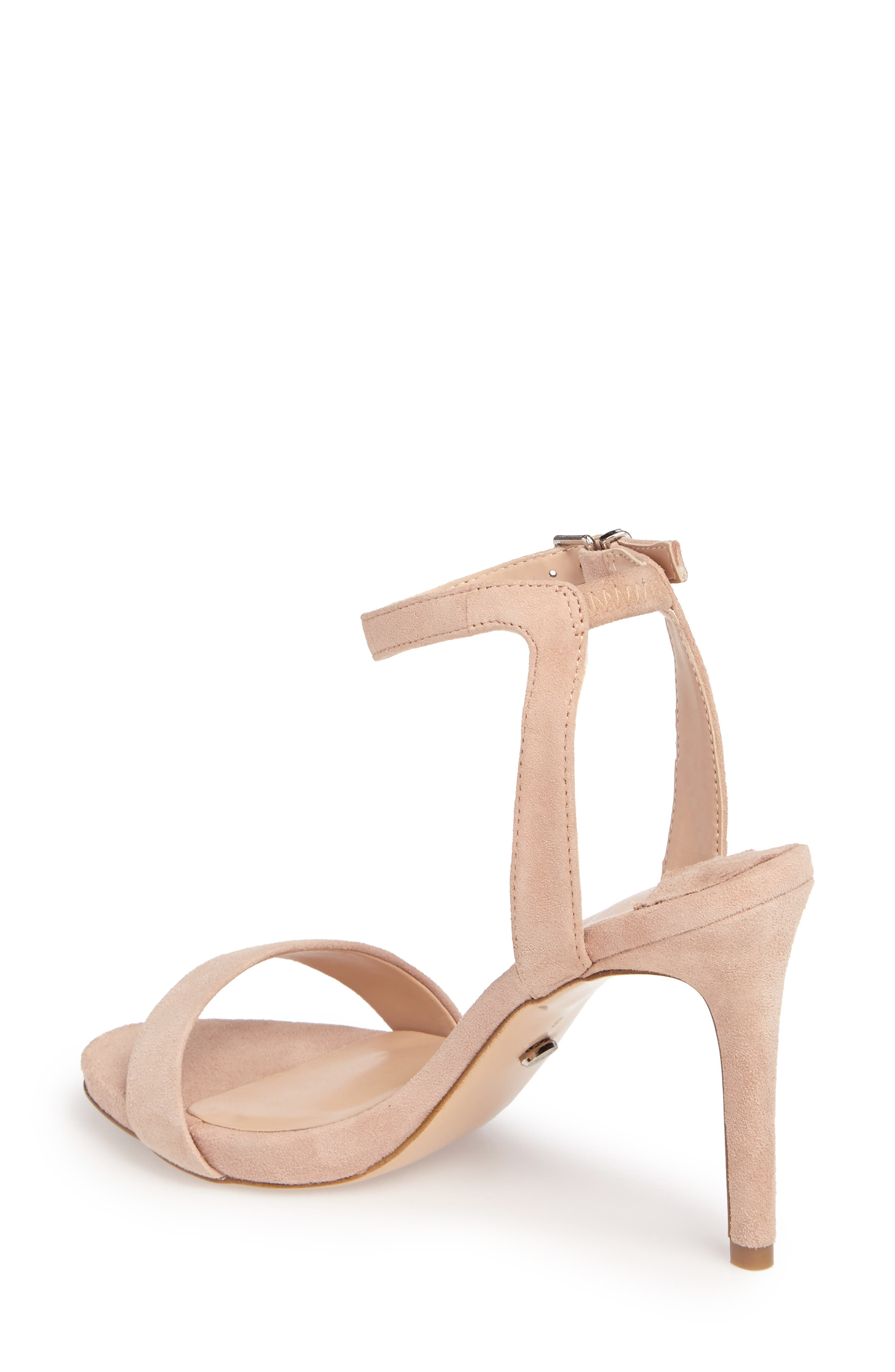 Char Ankle Cuff Sandal,                             Alternate thumbnail 2, color,                             Blush Suede