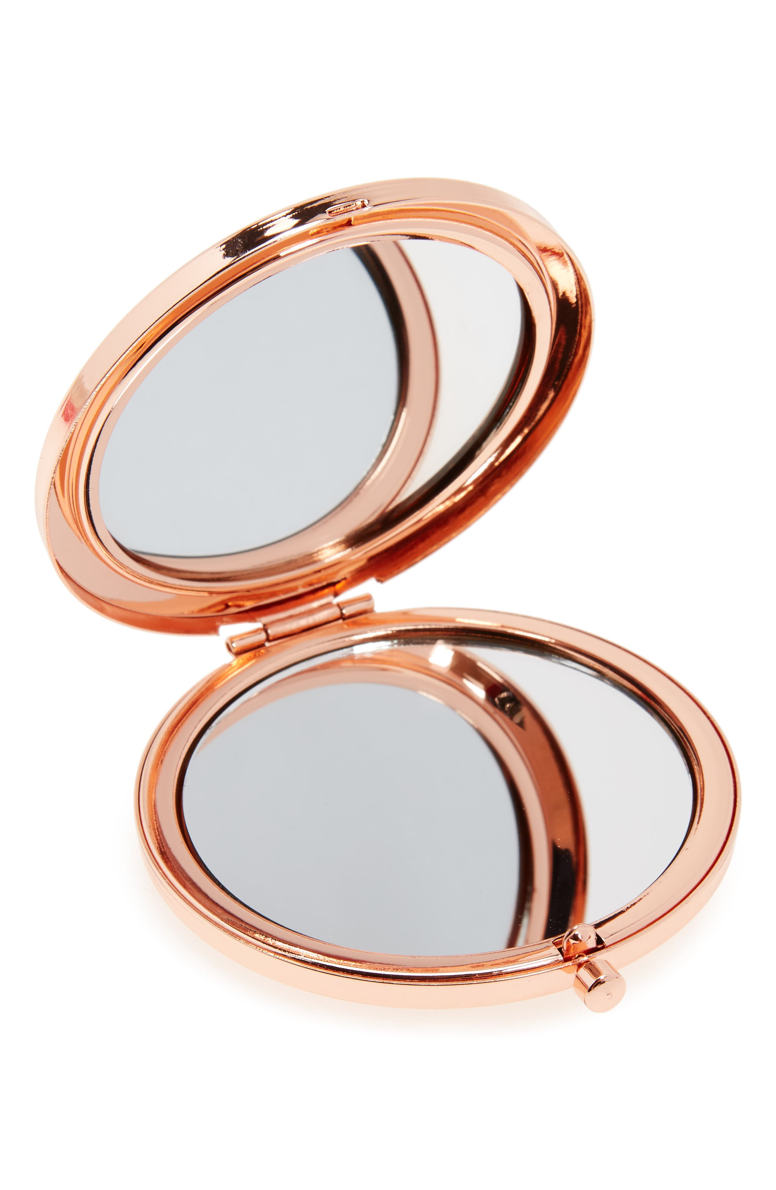 Skinny Dip Ditsy Rose Gold Mirror