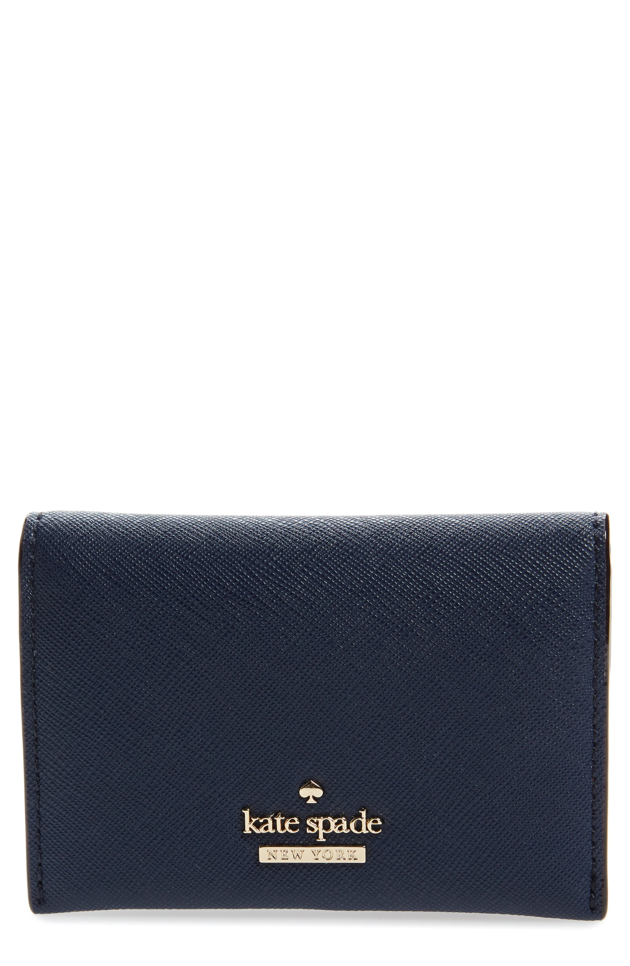 Main Image - kate spade new york cameron street - farren leather card case