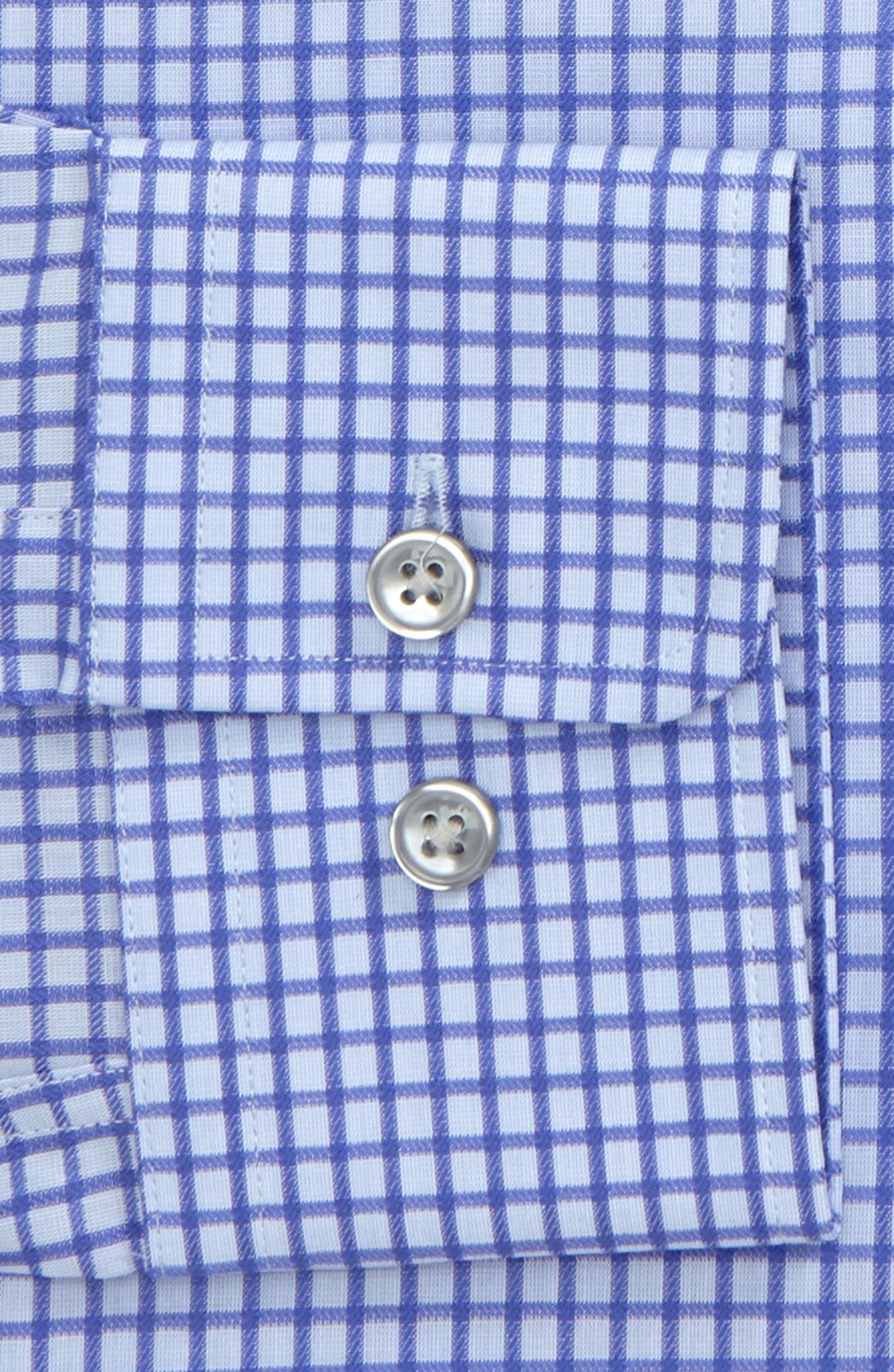 Marley Sharp Fit Check Dress Shirt,                             Alternate thumbnail 2, color,                             Purple