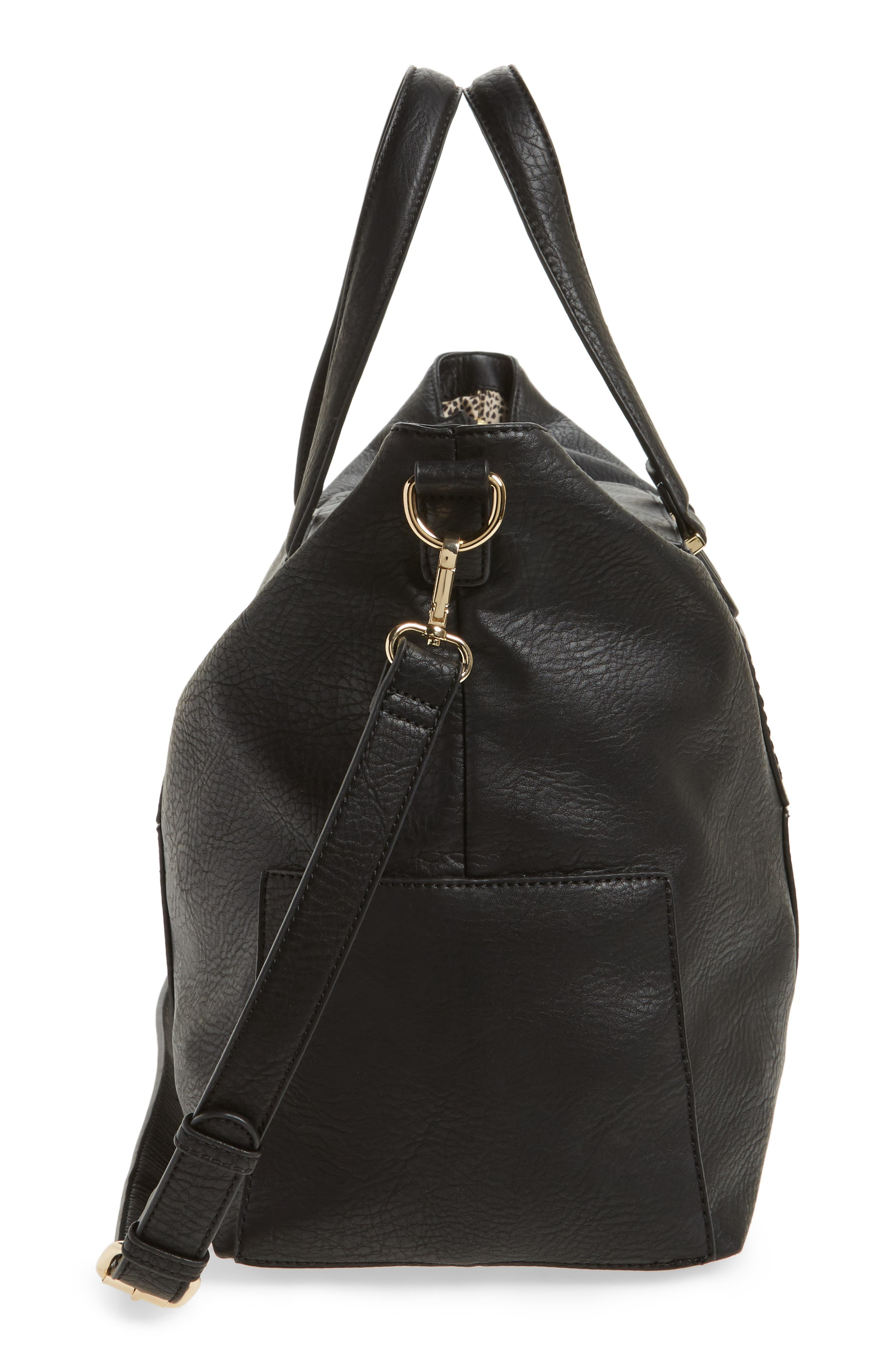 Alternate Image 5  - Sole Society Cory Faux Leather Travel Tote
