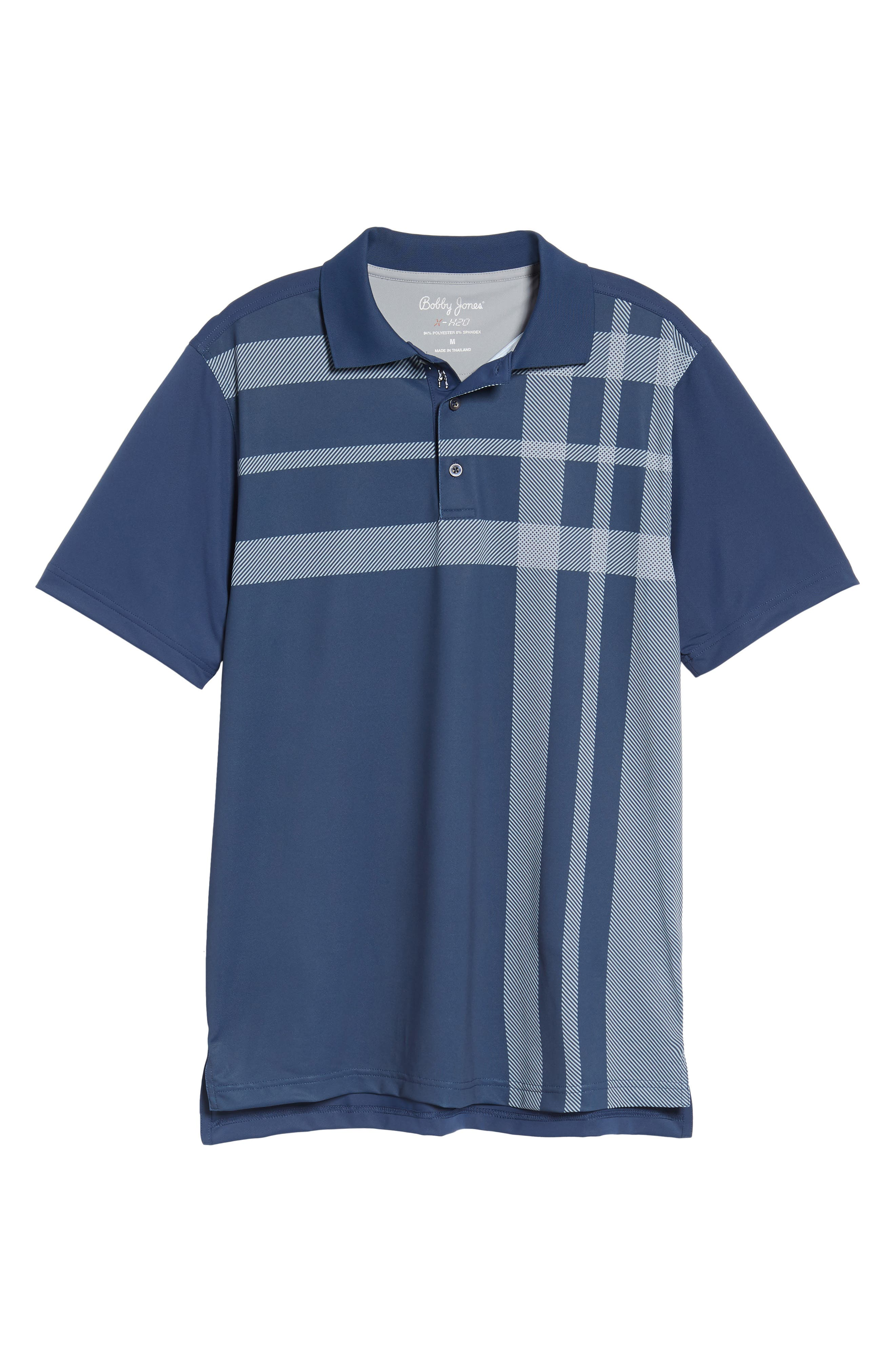 XH20 Robertson Print Polo,                             Main thumbnail 1, color,                             Midnight Ink