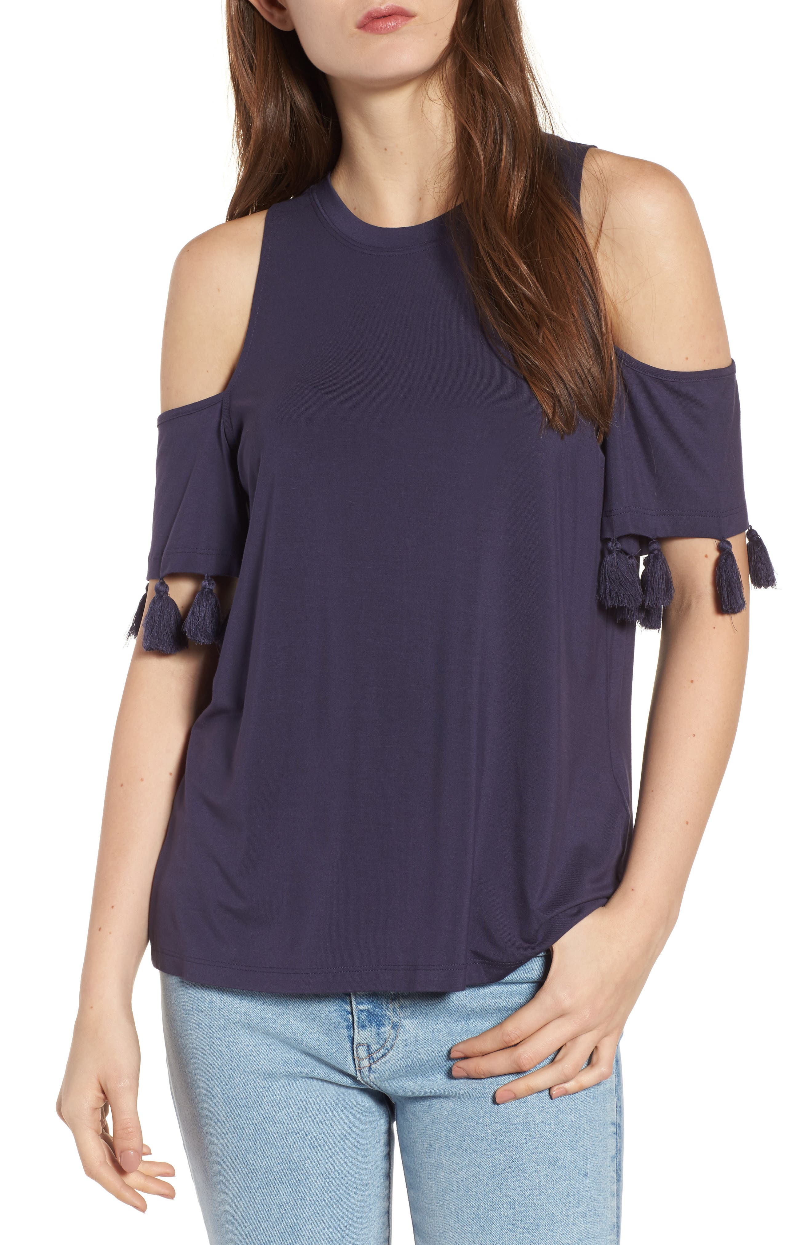 Alternate Image 1 Selected - Rebecca Minkoff Theora Cold Shoulder Tee