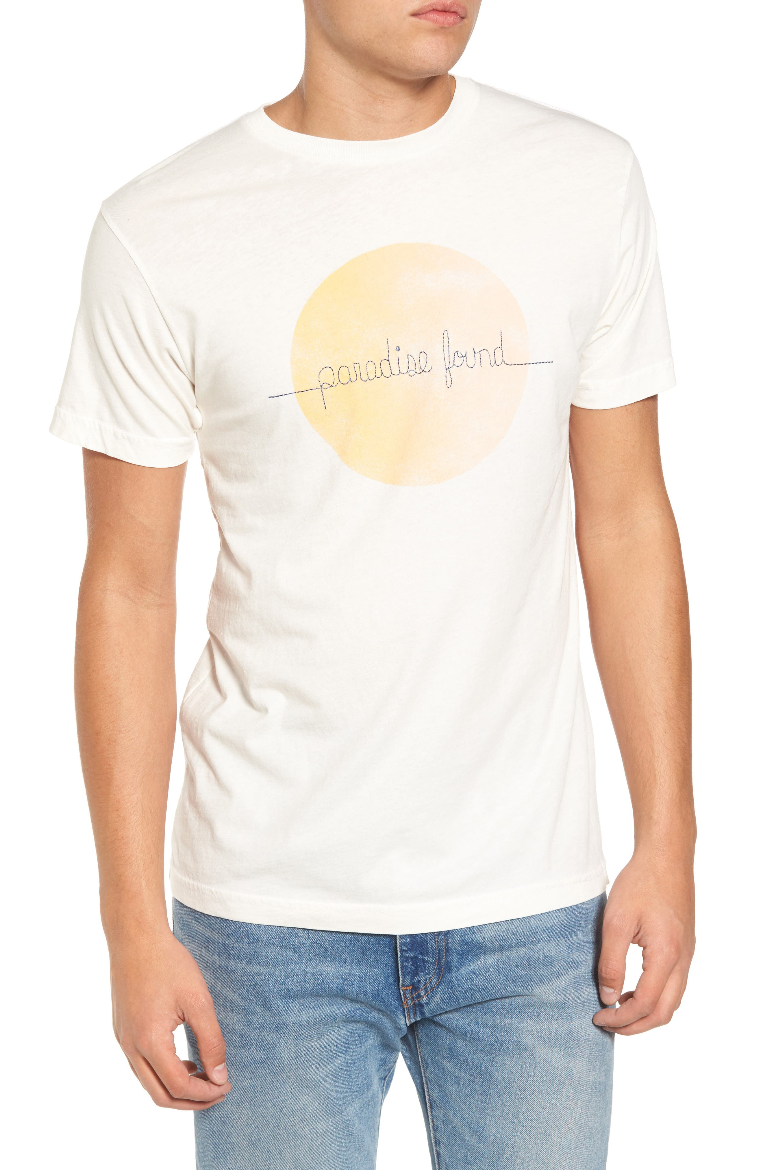 Paradise Found Embroidered T-Shirt,                         Main,                         color, White