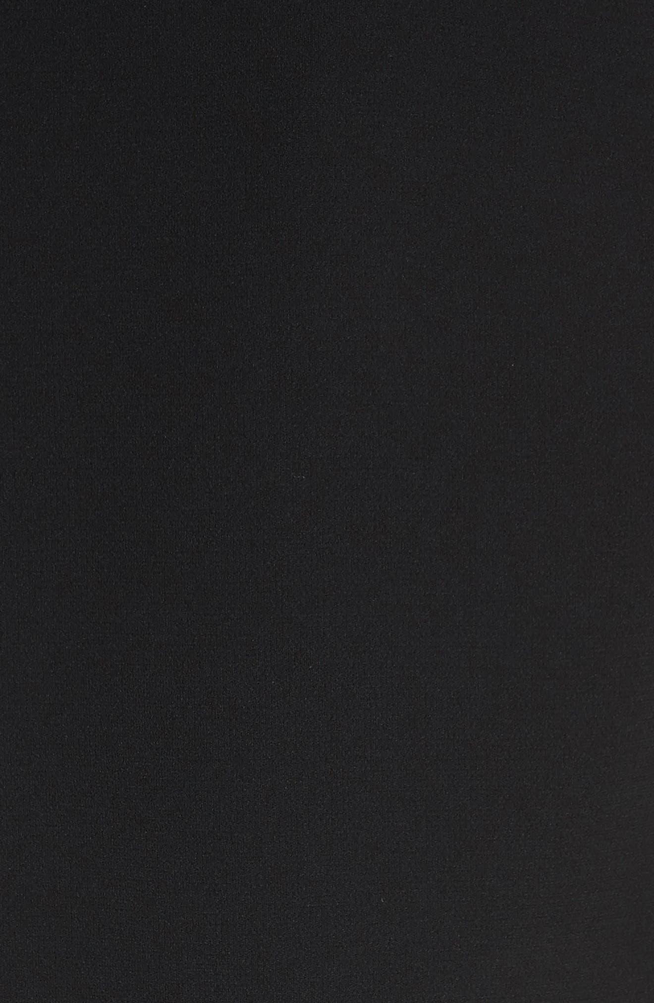 Sospiro Cape Shift Dress,                             Alternate thumbnail 6, color,                             Black