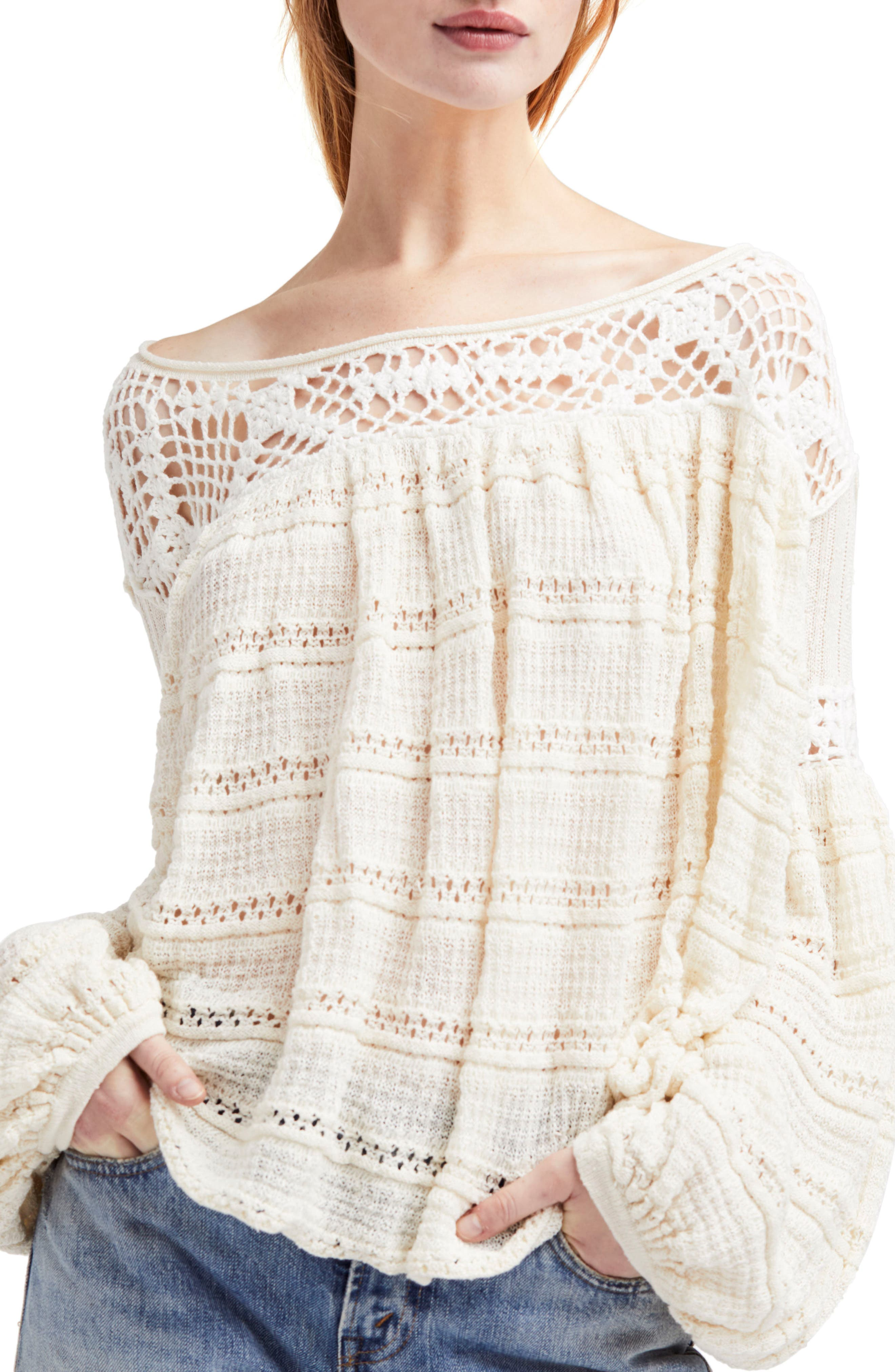Someday Sweater,                         Main,                         color, Ivory