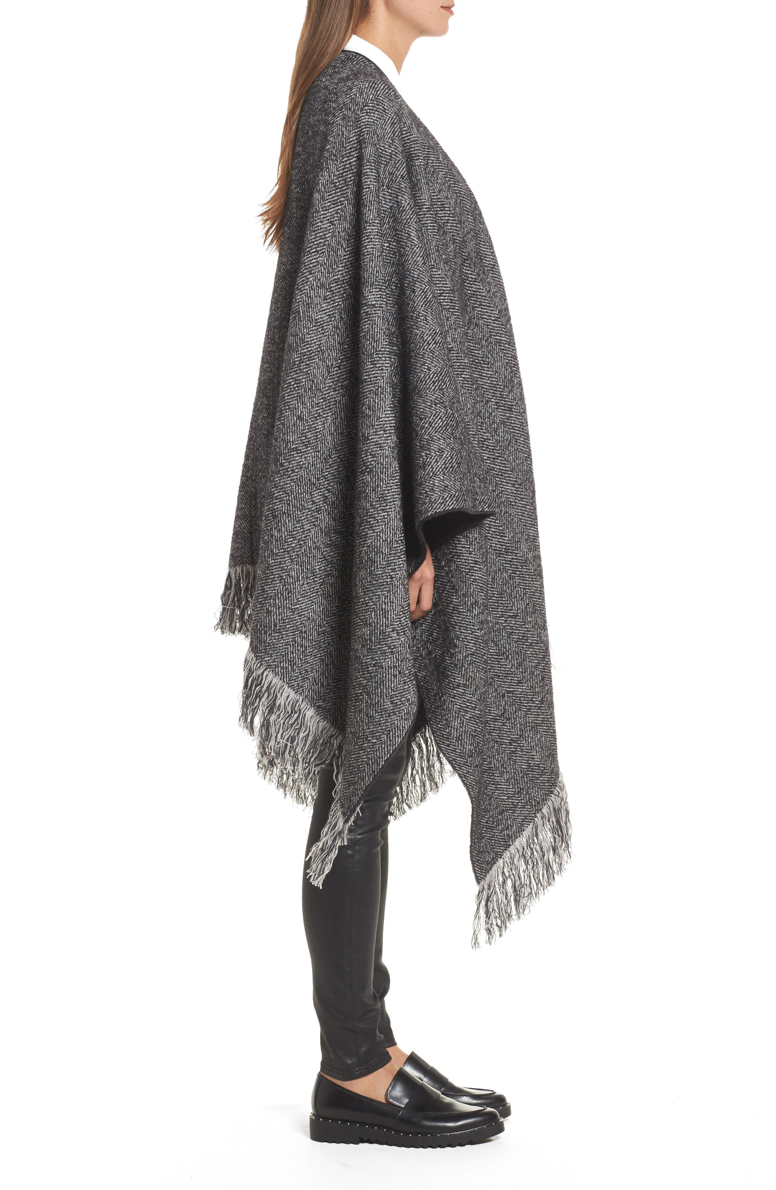 Alternate Image 3  - Max Mara Herringbone Cashmere & Wool Cape
