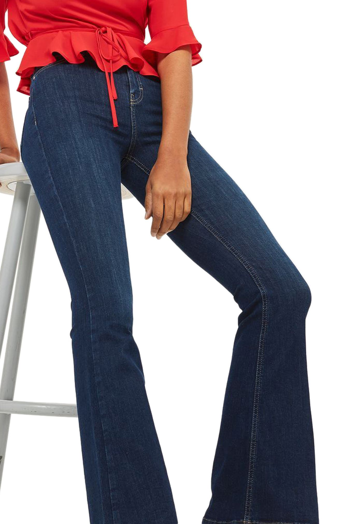 Jamie Flare Jeans,                             Main thumbnail 1, color,                             Indigo