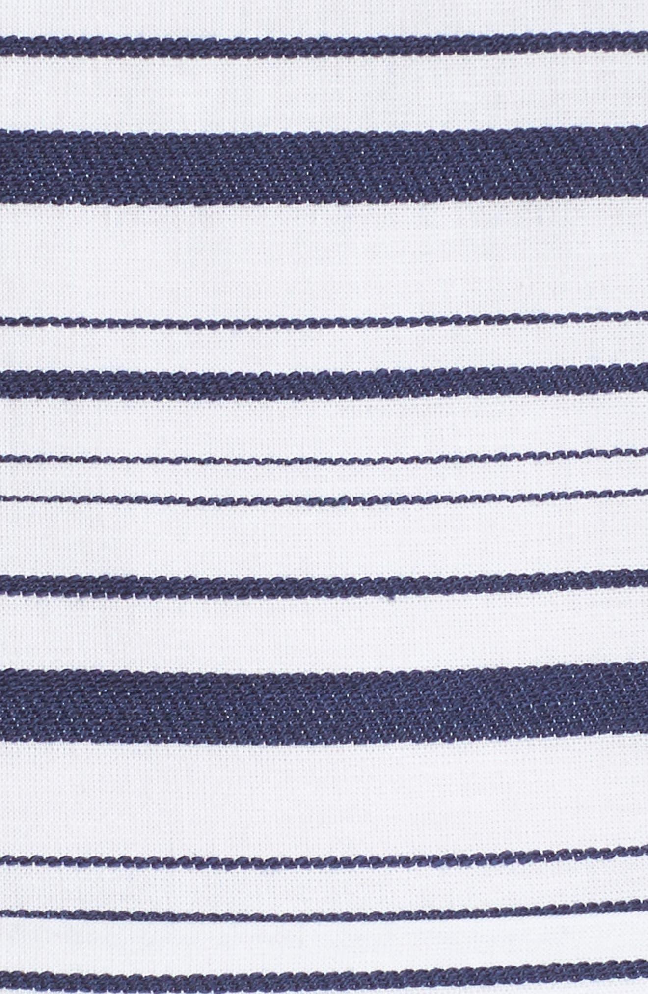Stripe Culotte Jumpsuit,                             Alternate thumbnail 6, color,                             Blue/ White Ella Stripe