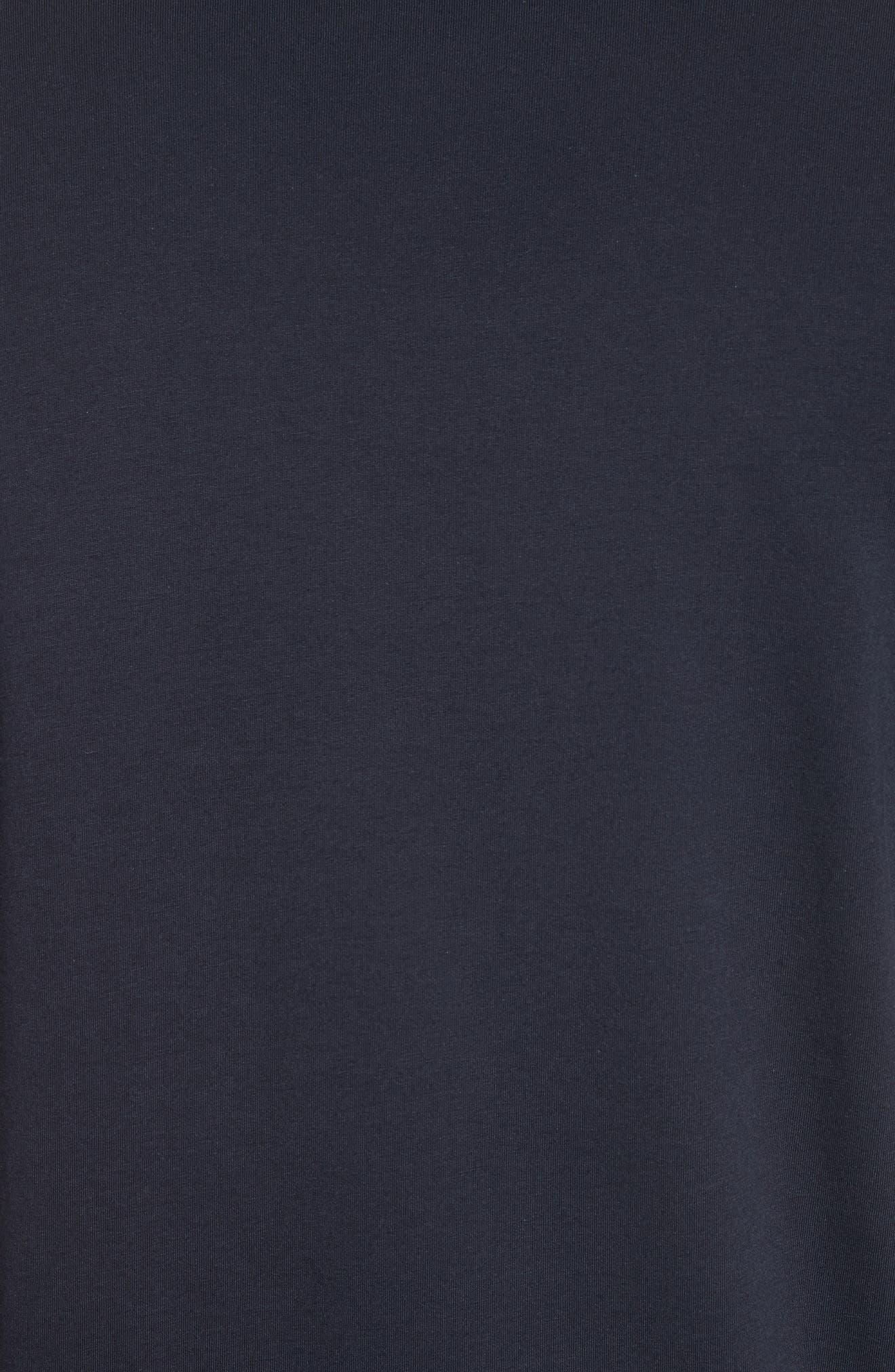 Logo Print T-Shirt,                             Alternate thumbnail 5, color,                             Navy