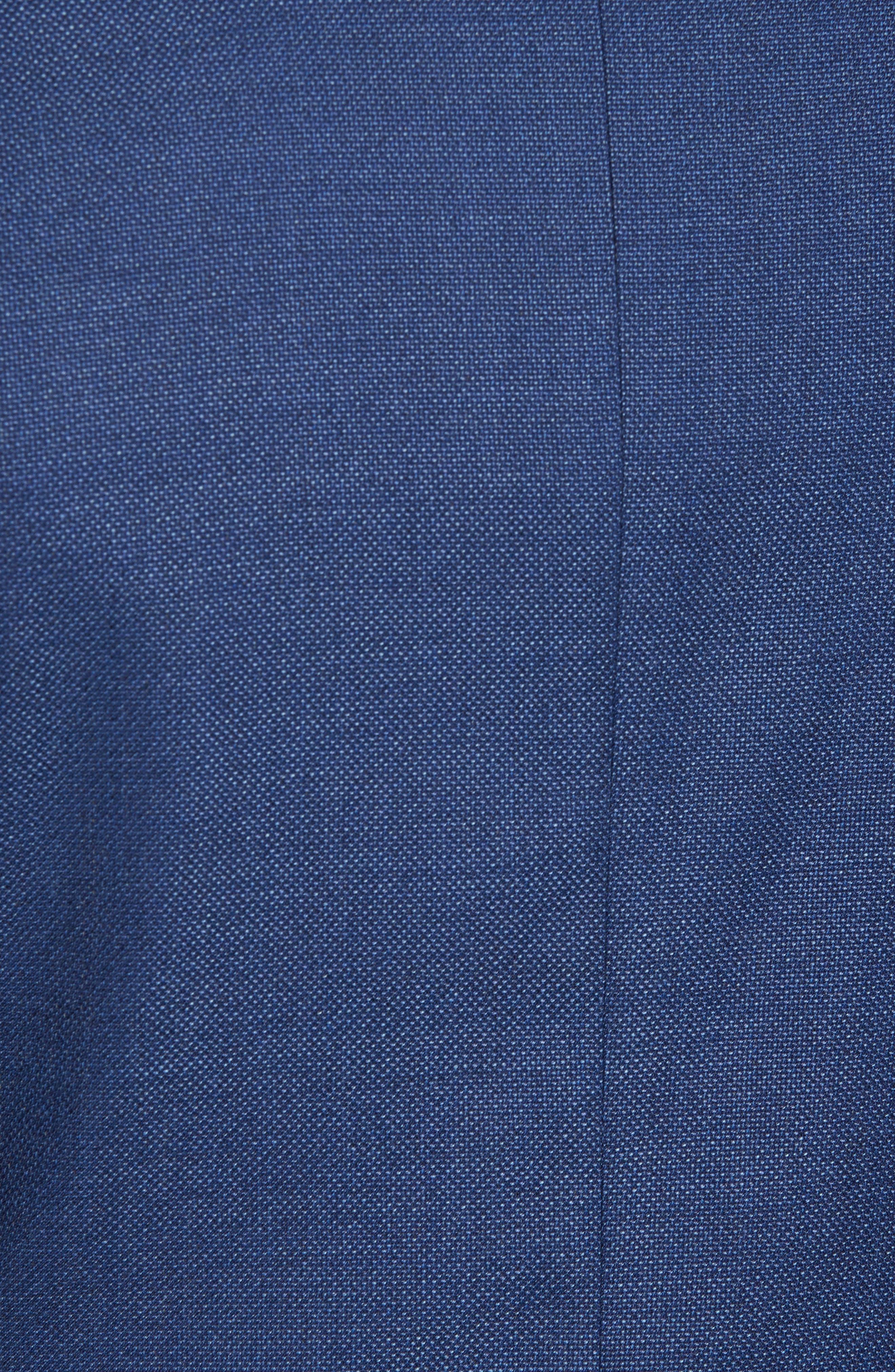 Kyle Trim Fit Wool Blazer,                             Alternate thumbnail 5, color,                             Mid Blue