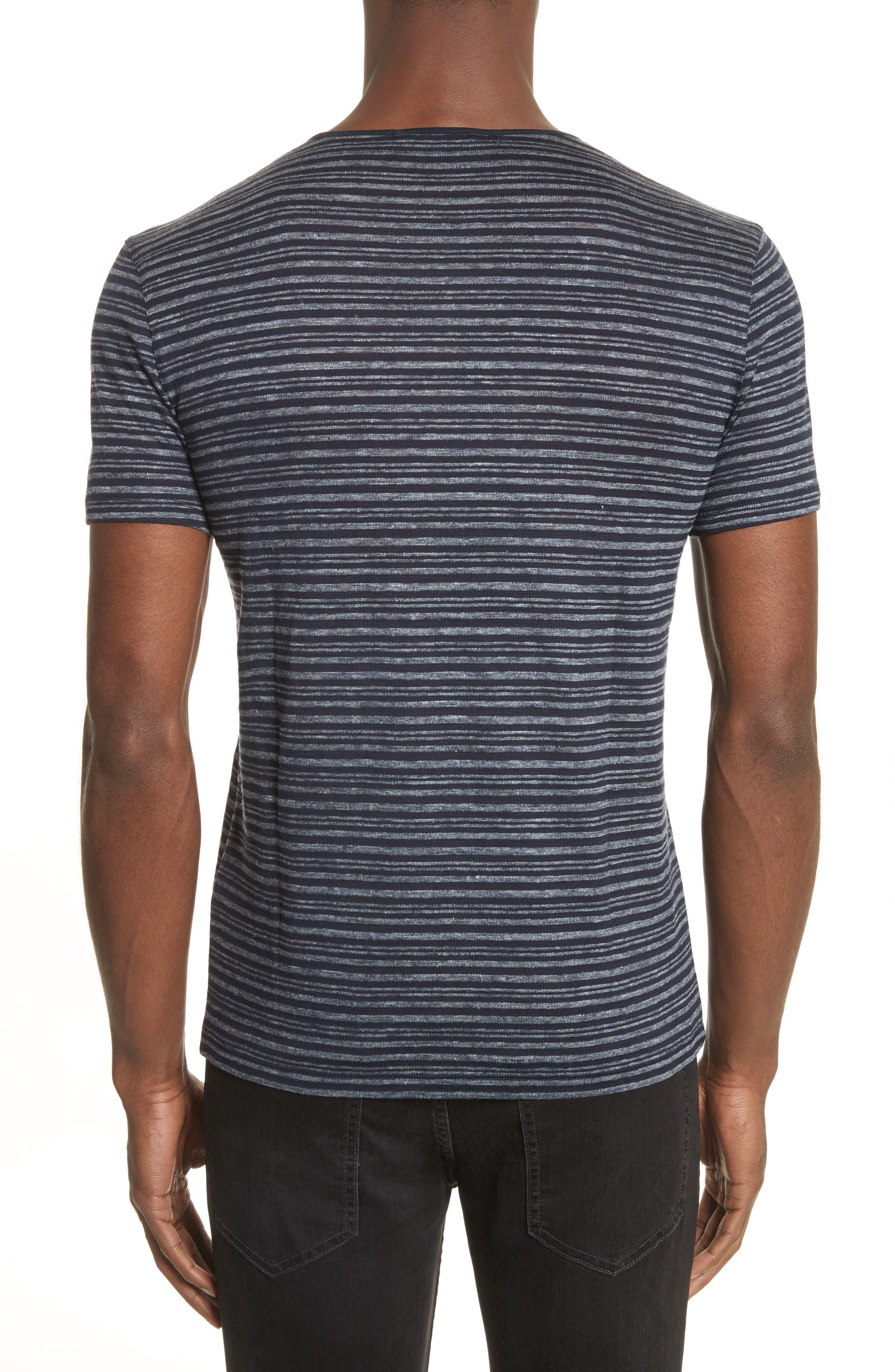 Stripe T-Shirt,                             Alternate thumbnail 2, color,                             Eclipse