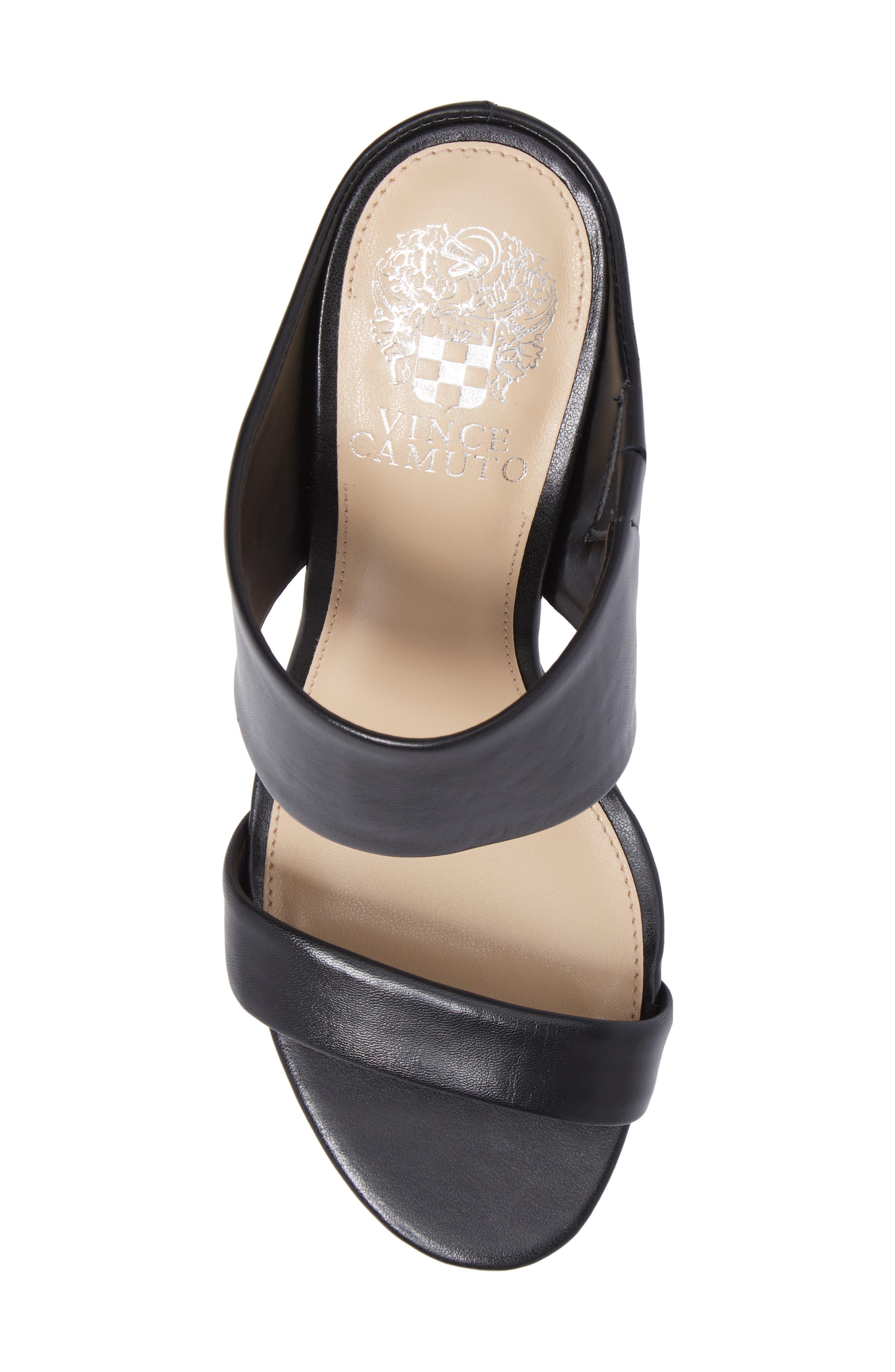 Navinta Sandal,                             Alternate thumbnail 5, color,                             Black Nappa Leather