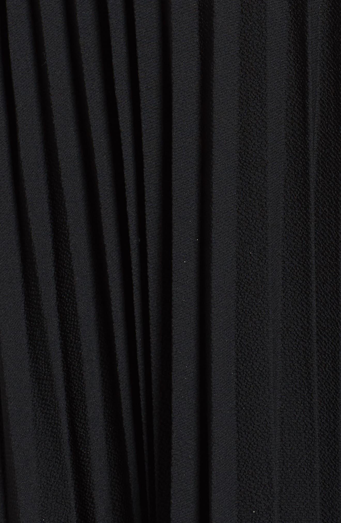 Crystal Flower Embellished Dress,                             Alternate thumbnail 6, color,                             Black