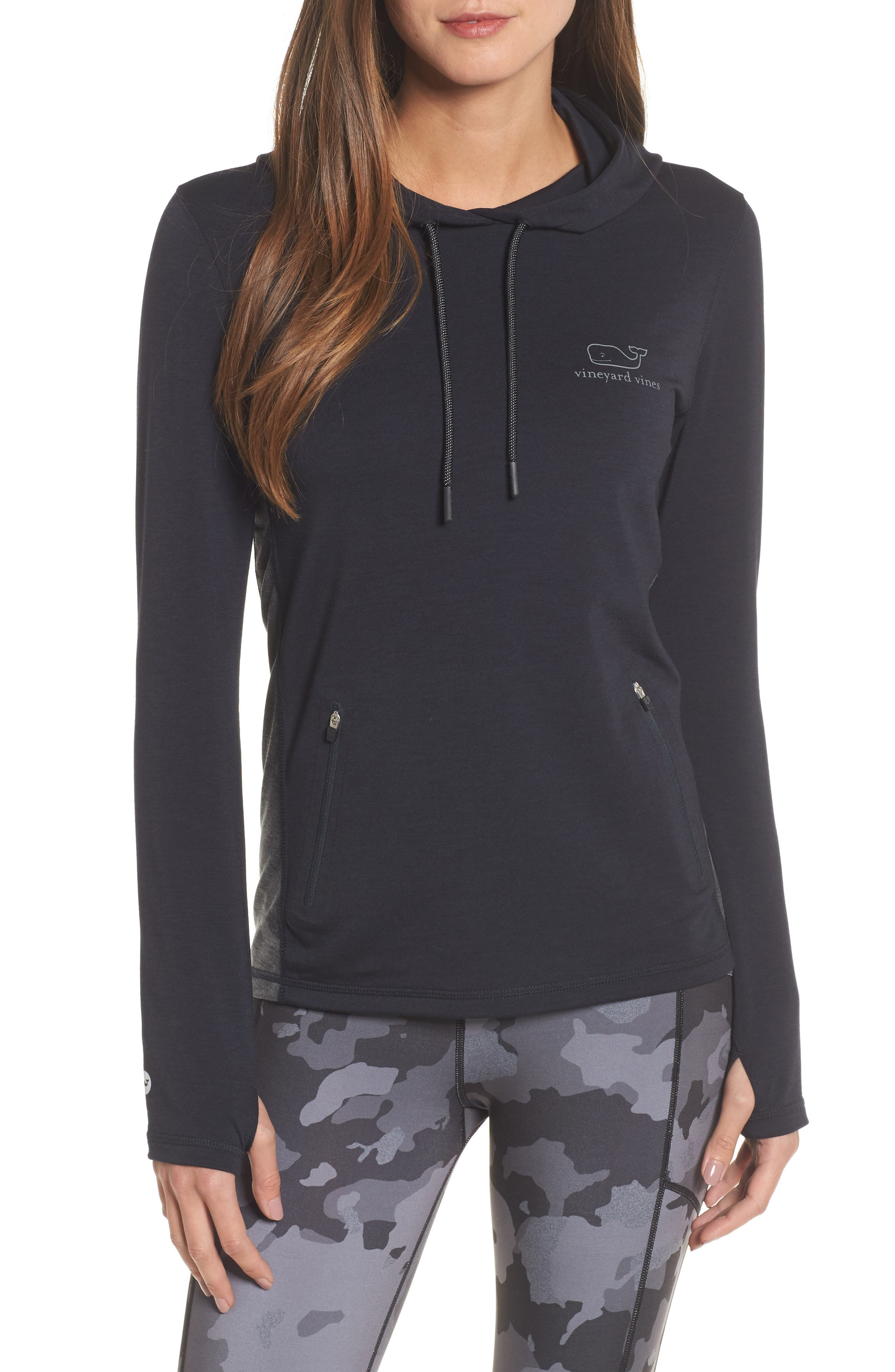 vineyard vines Performance Camo Whale Hoodie
