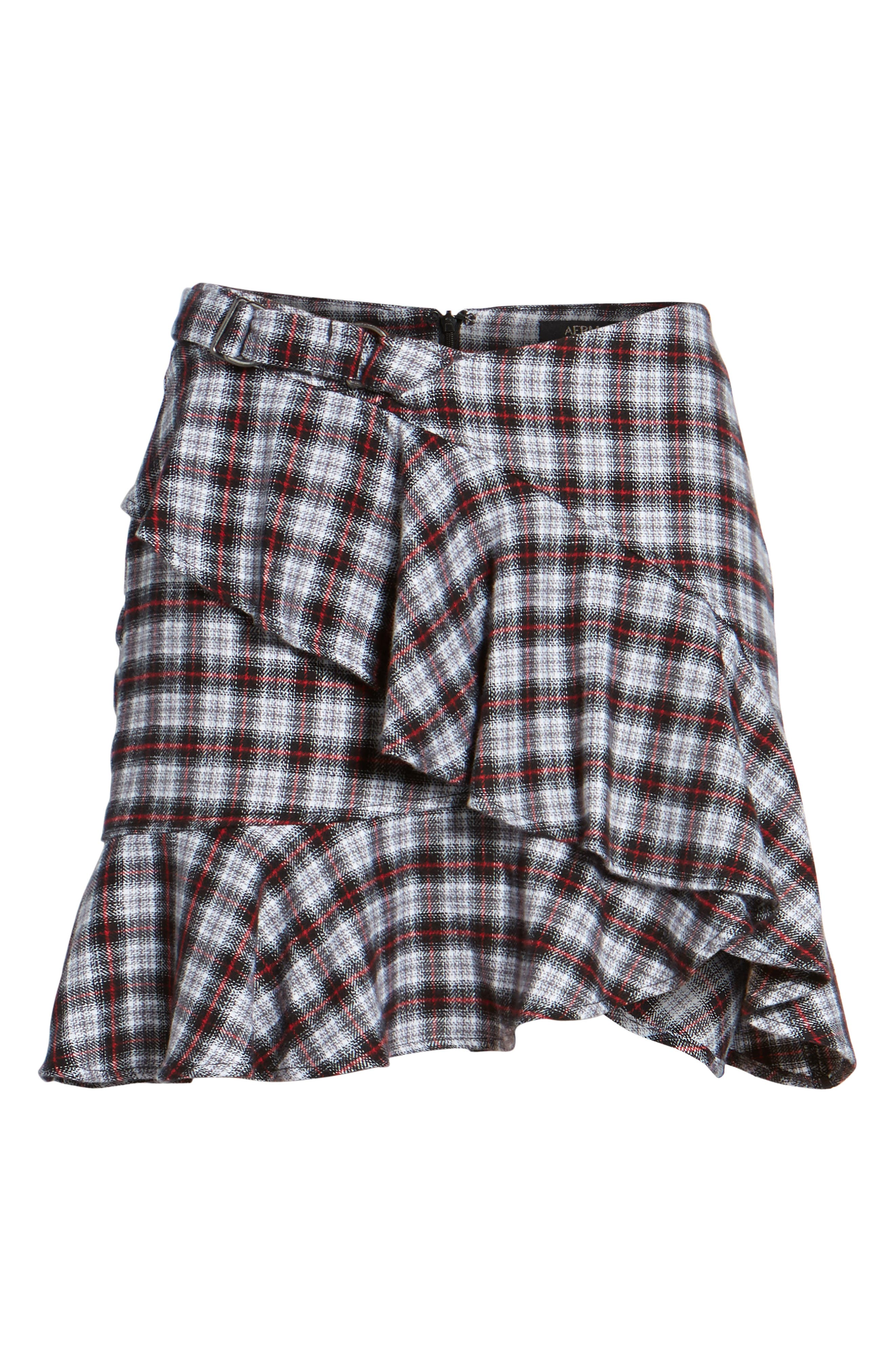 Dominic Asymmetrical Ruffle Skirt,                             Alternate thumbnail 5, color,                             Multi Flannel