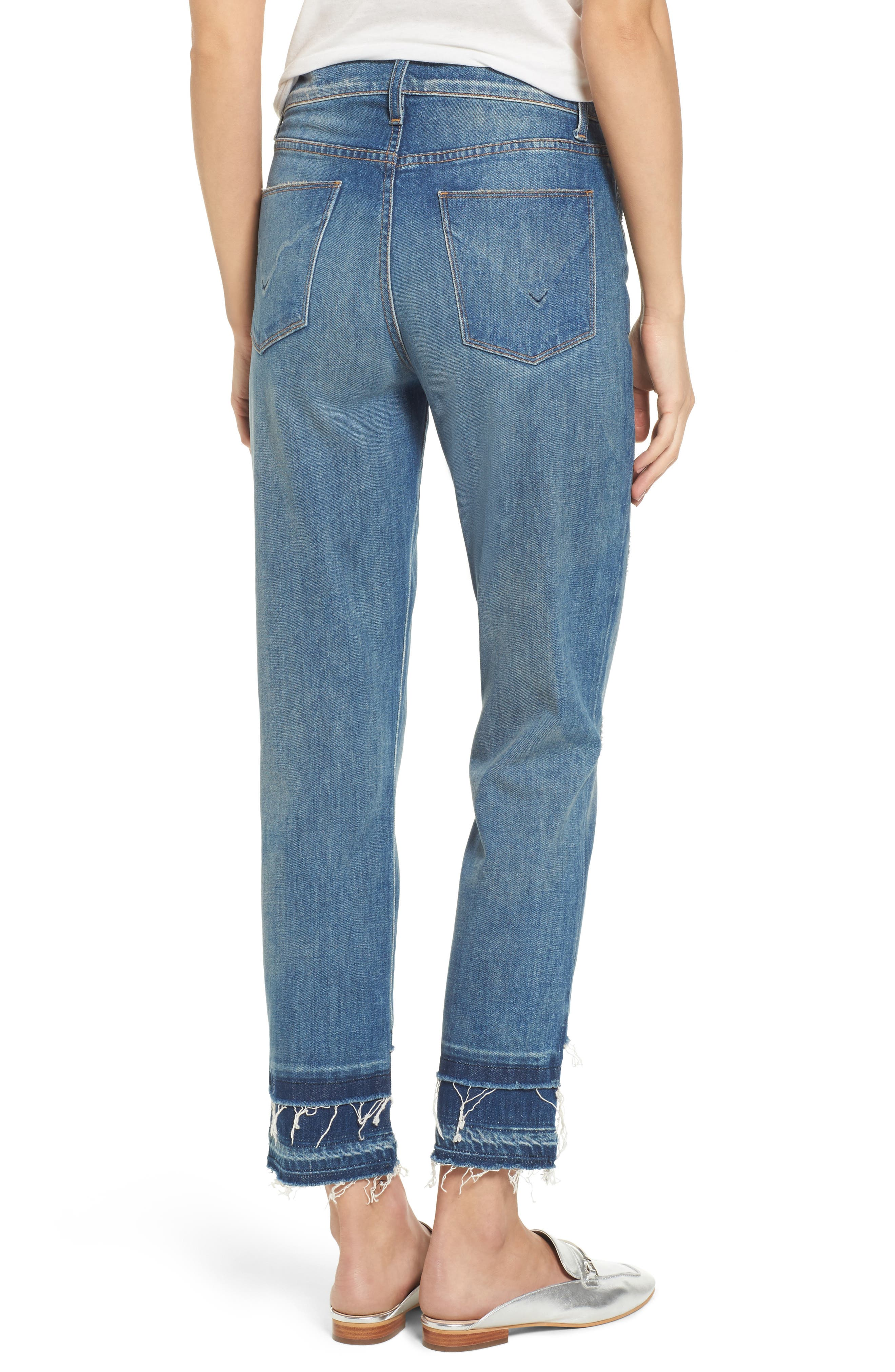Zoeey High Waist Crop Straight Leg Jeans,                             Alternate thumbnail 2, color,                             Social Grace