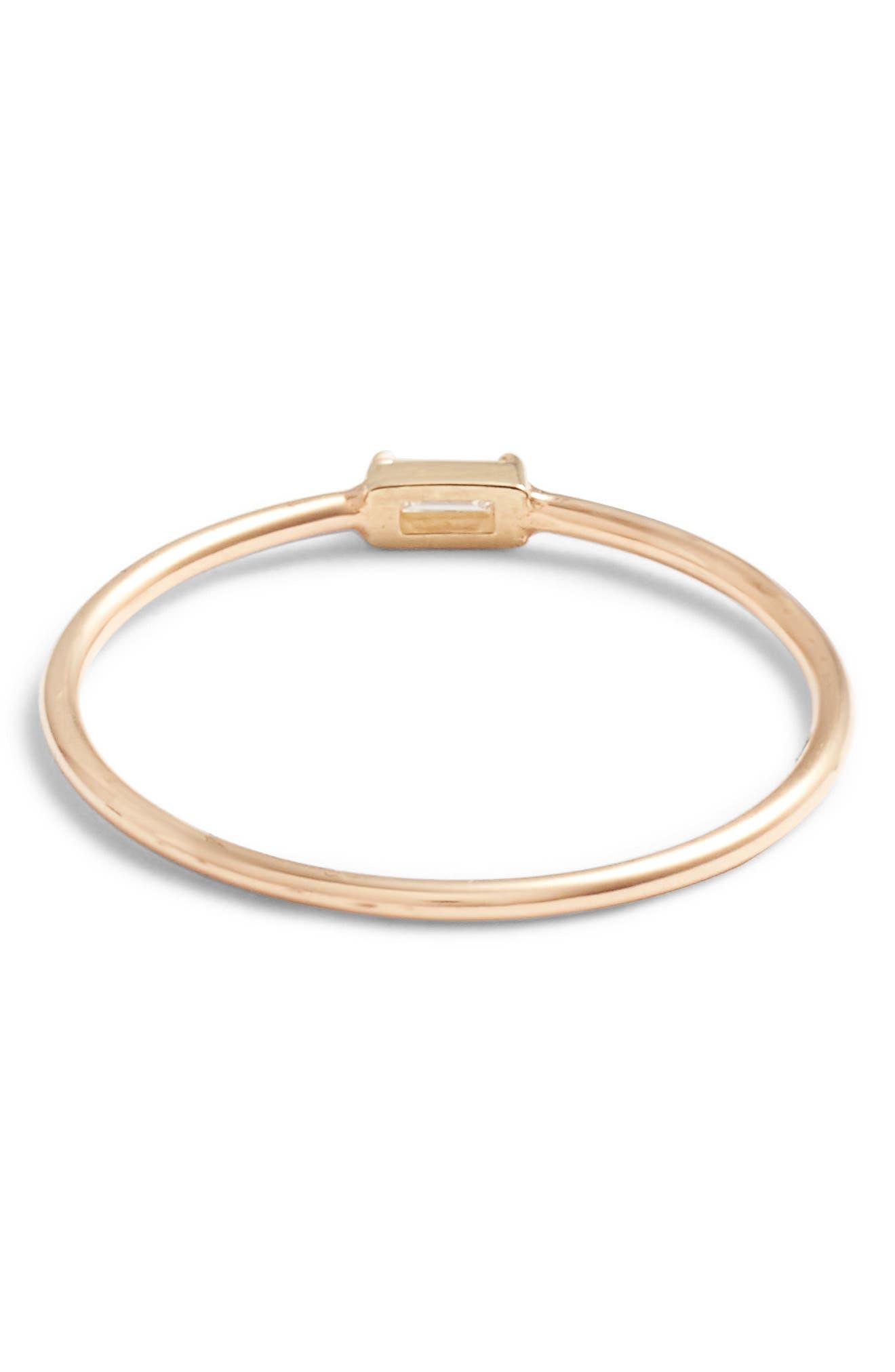 Alternate Image 4  - Zoë Chicco Baguette Diamond Stacking Ring