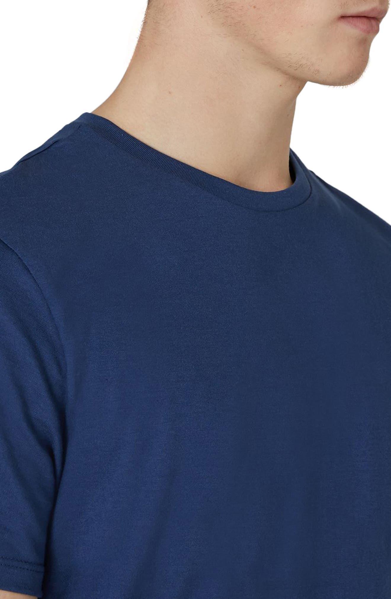 Slim Fit Crewneck T-Shirt,                             Alternate thumbnail 3, color,                             Light Blue