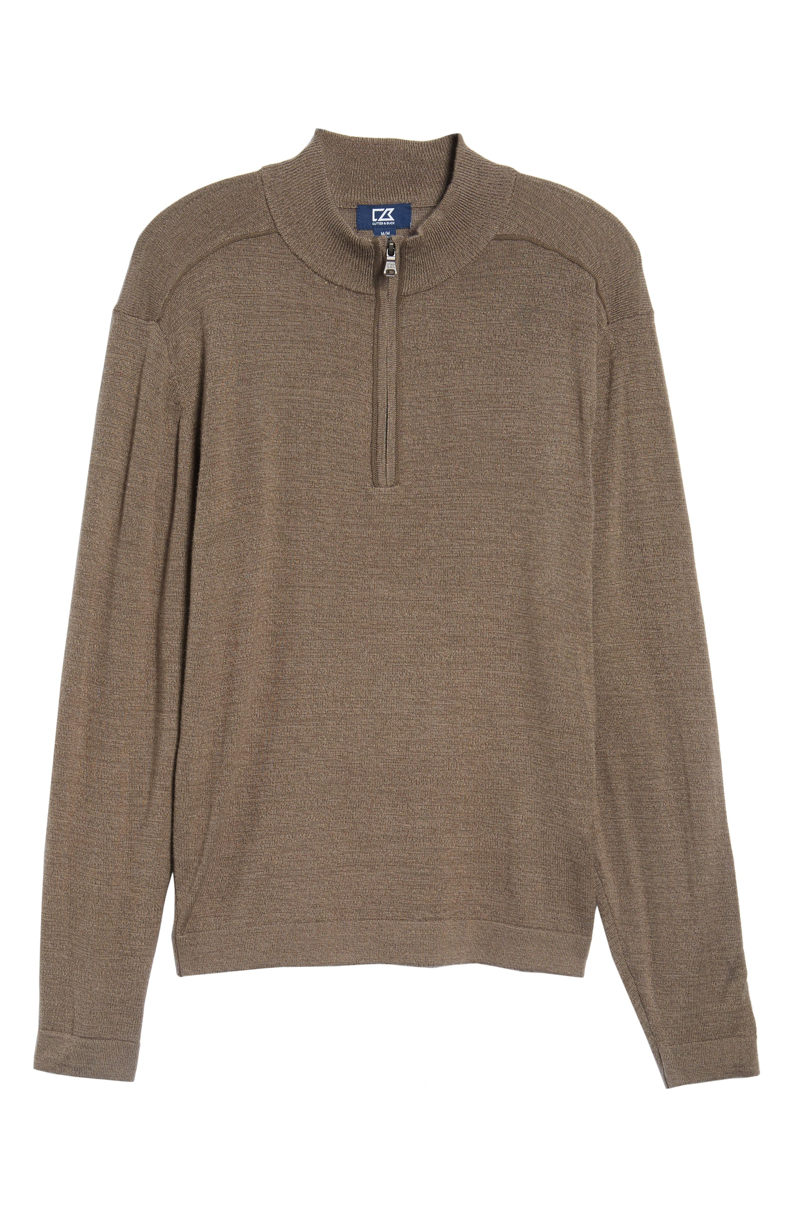 Henry Quarter-Zip Pullover Sweater,                             Alternate thumbnail 6, color,                             Twig
