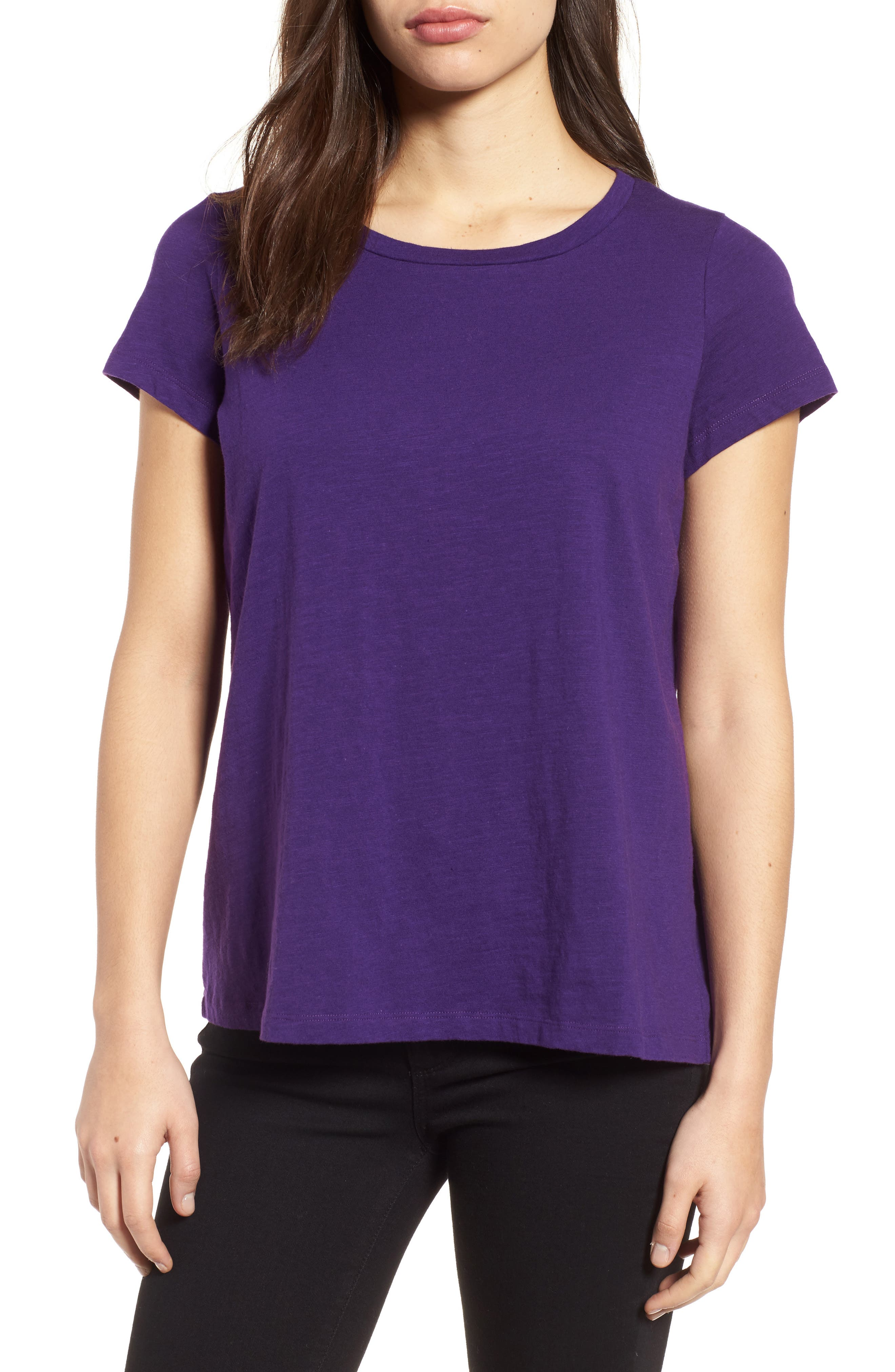 Eileen Fisher Organic Cotton Tee (Regular & Petite)