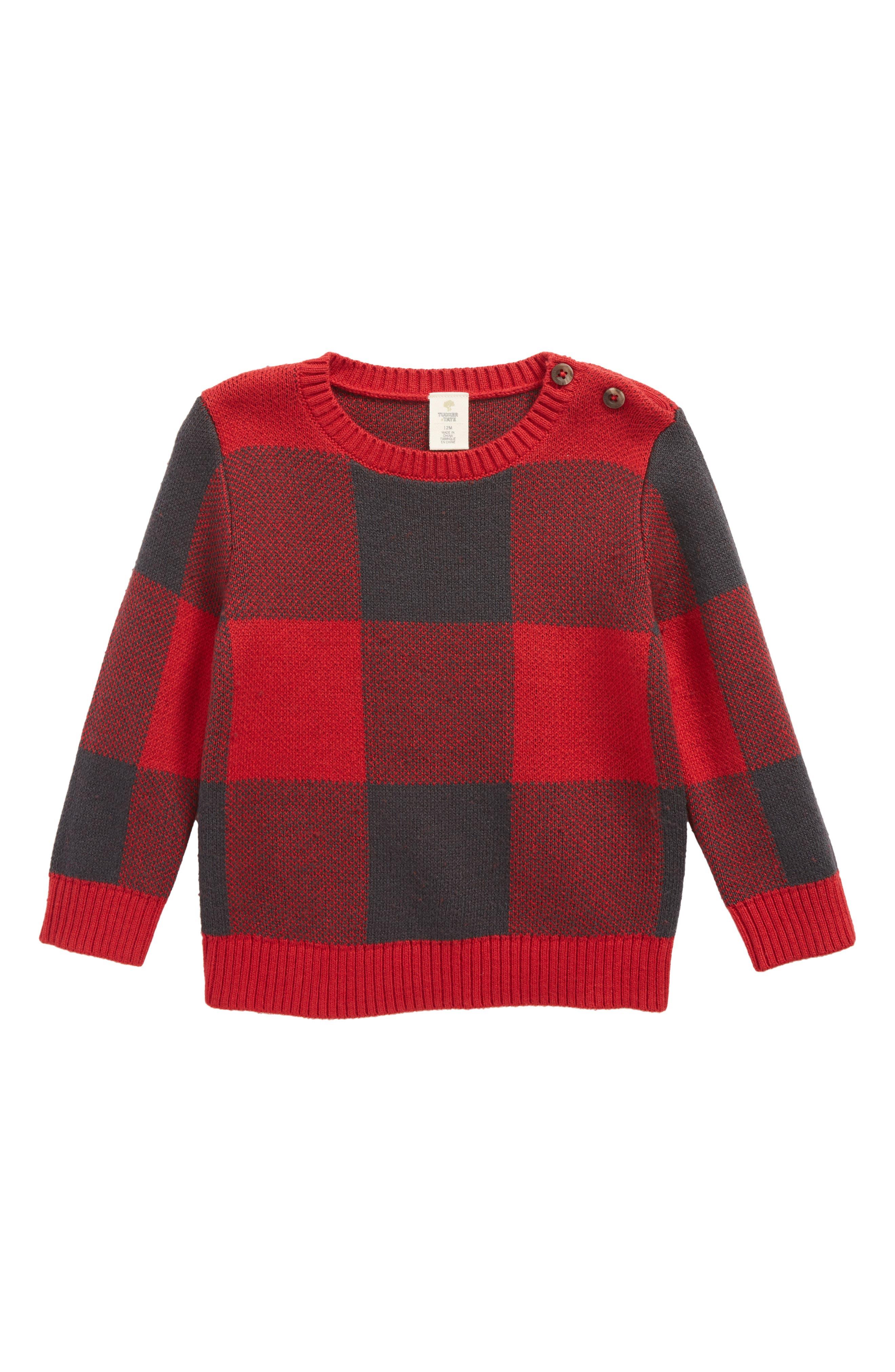 Tucker + Tate Buffalo Check Sweater (Baby Boys)