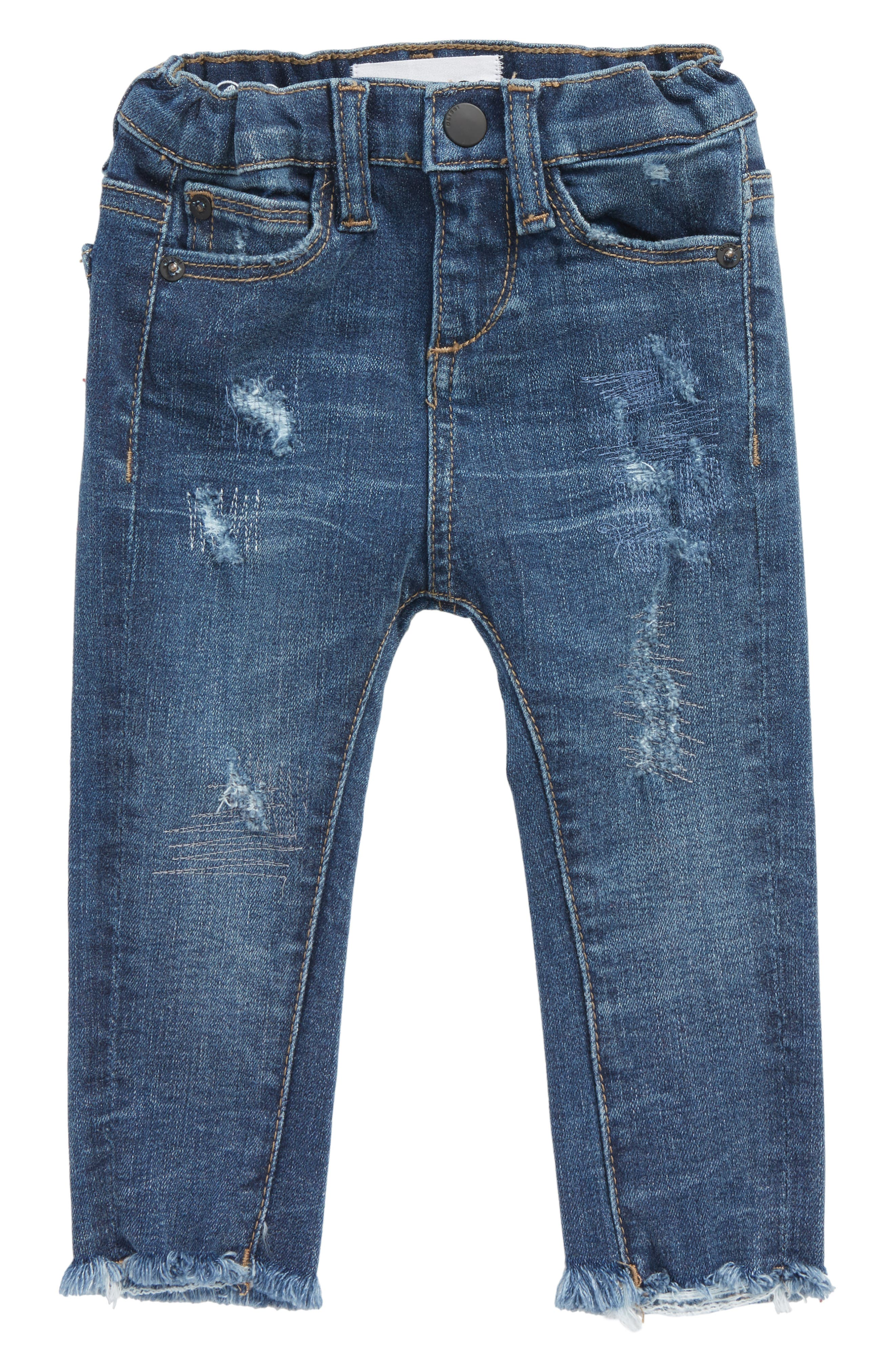 Distressed Skinny Jeans,                             Main thumbnail 1, color,                             Sumner