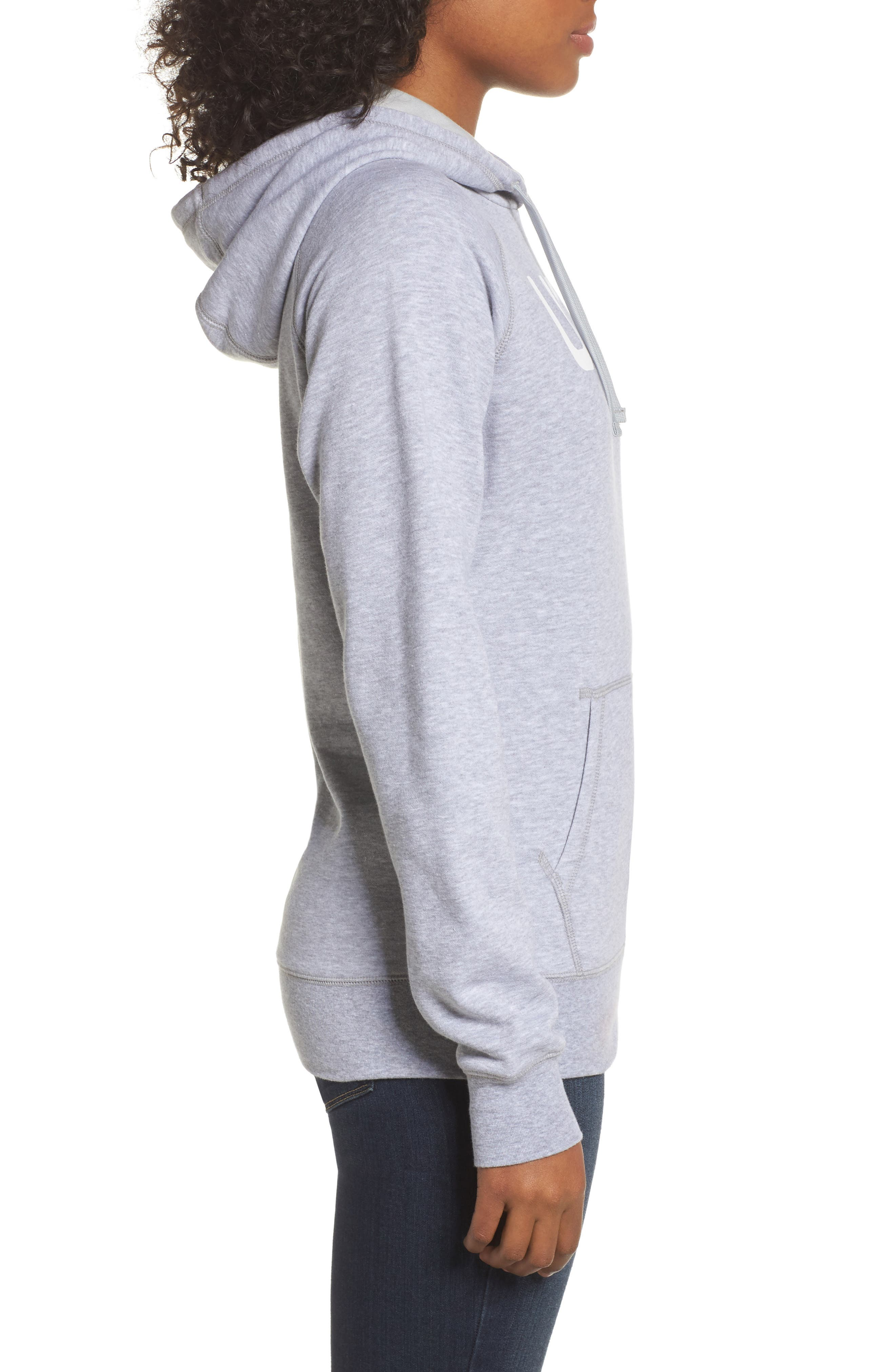 International Collection USA Pullover Hoodie,                             Alternate thumbnail 3, color,                             Tnf Light Grey Heather